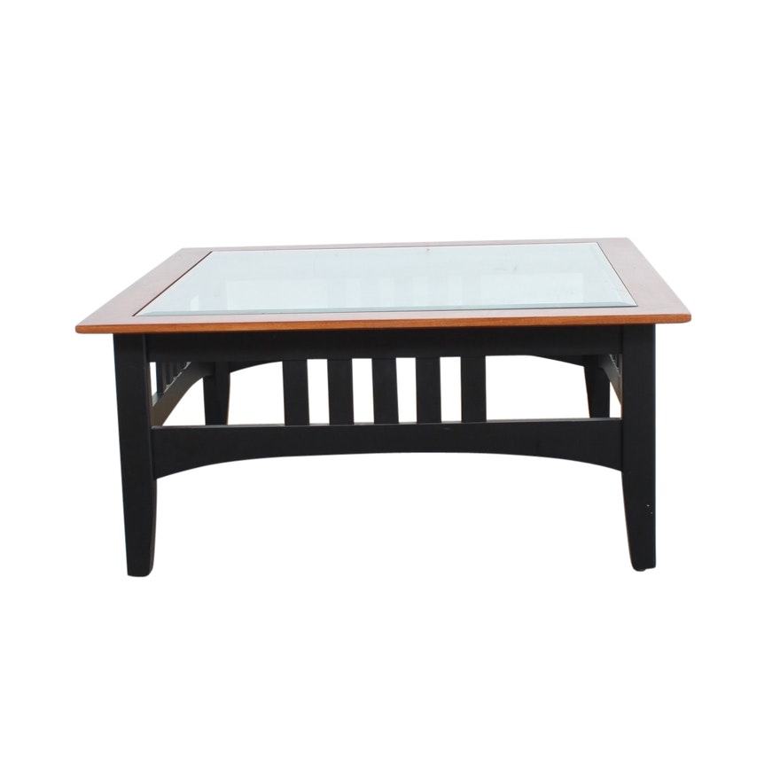 Ethan Allen Mission Style Coffee Table Ebth