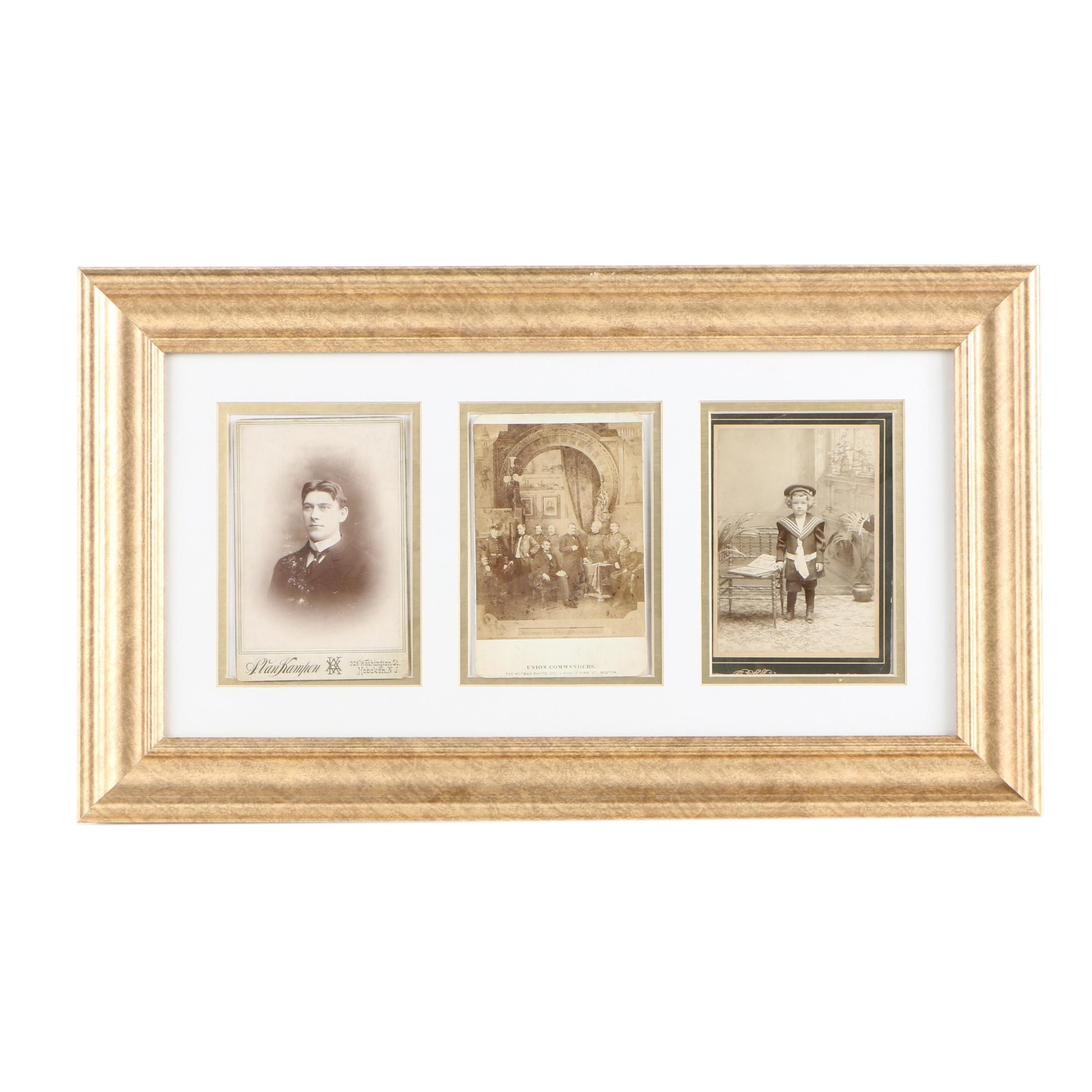 Gelatin-Silver Cabinet Cards Featuring Lincoln and Union Commanders