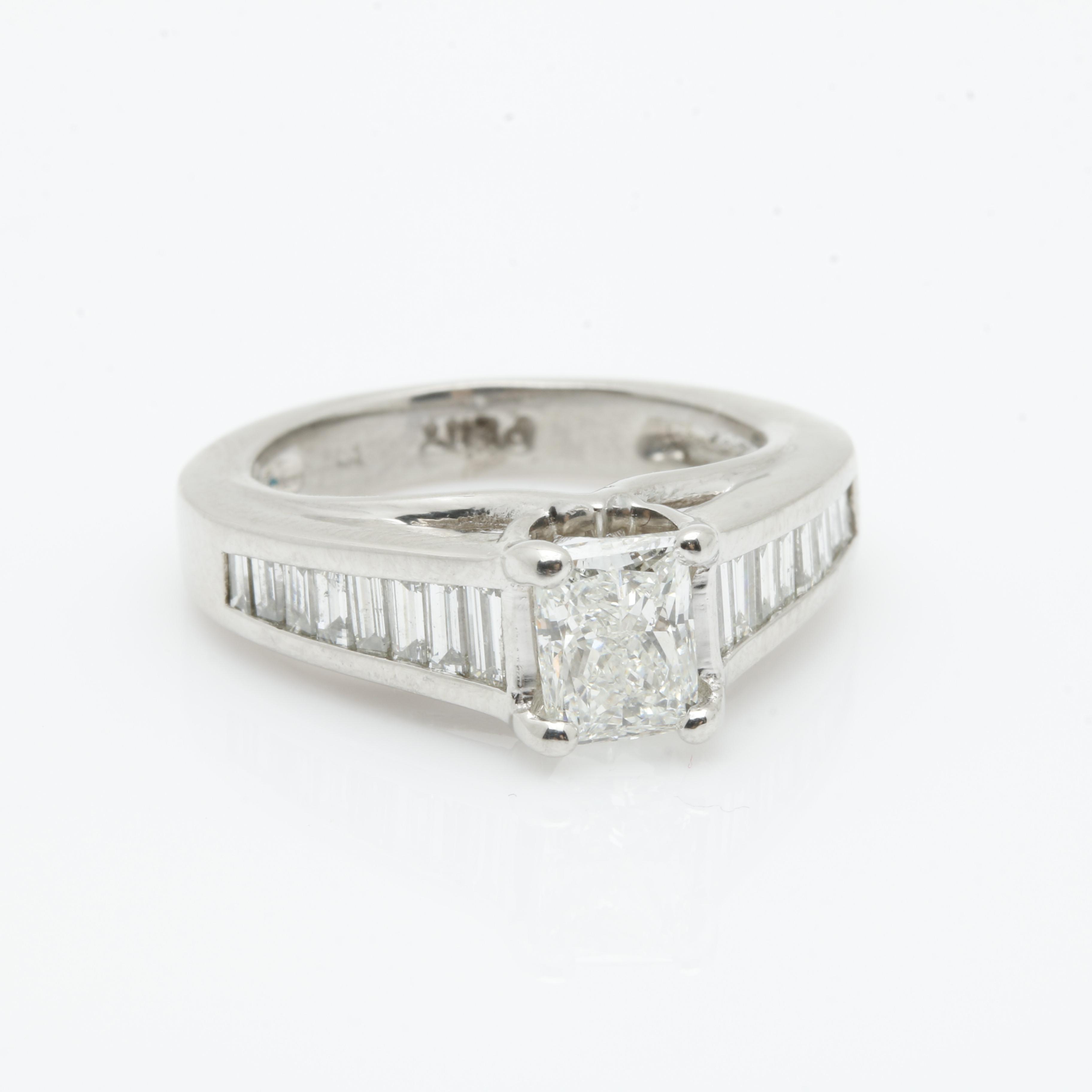 Platinum 1.46 CTW Diamond Ring