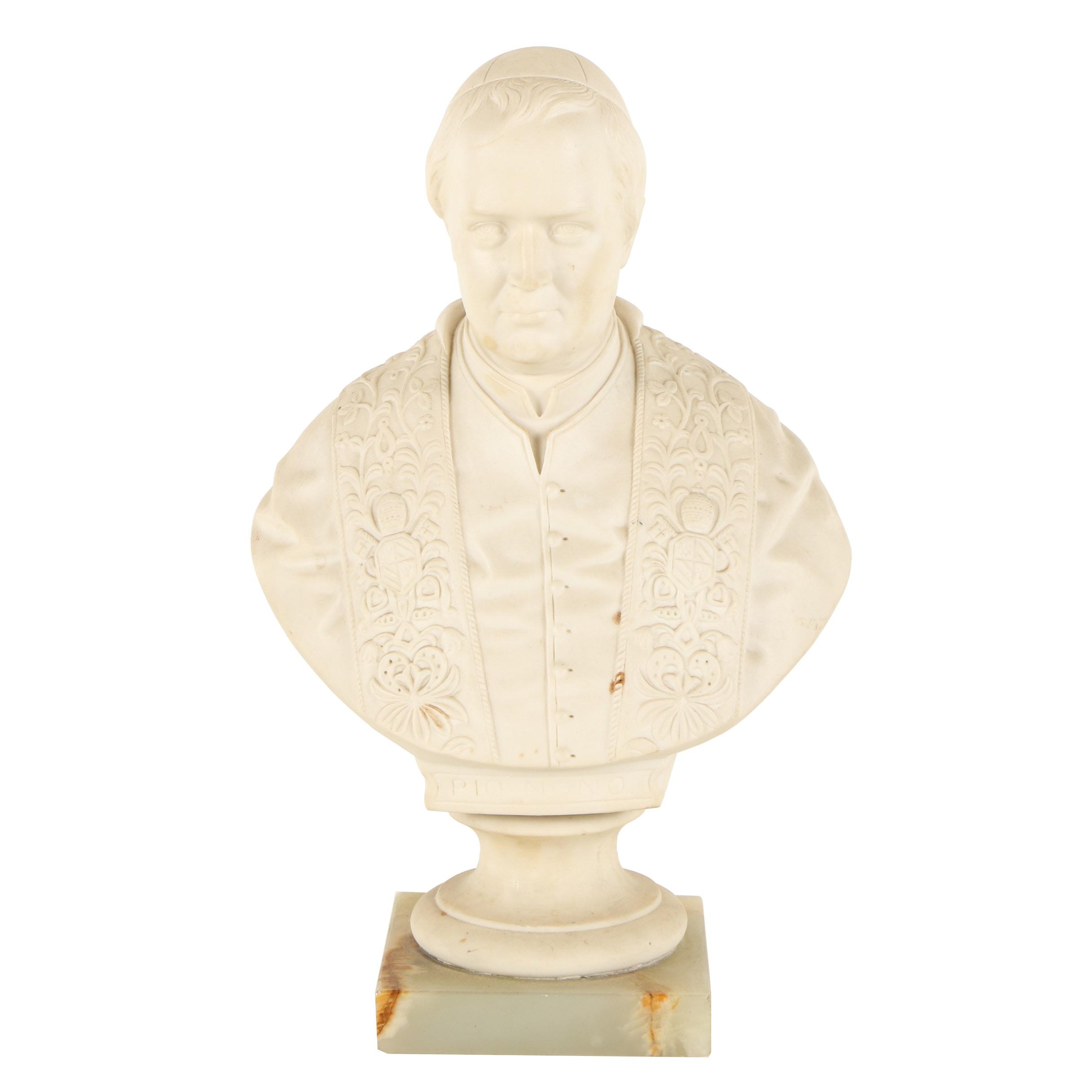 "J. Marrett Porcelain Bust ""Pio Nono"""