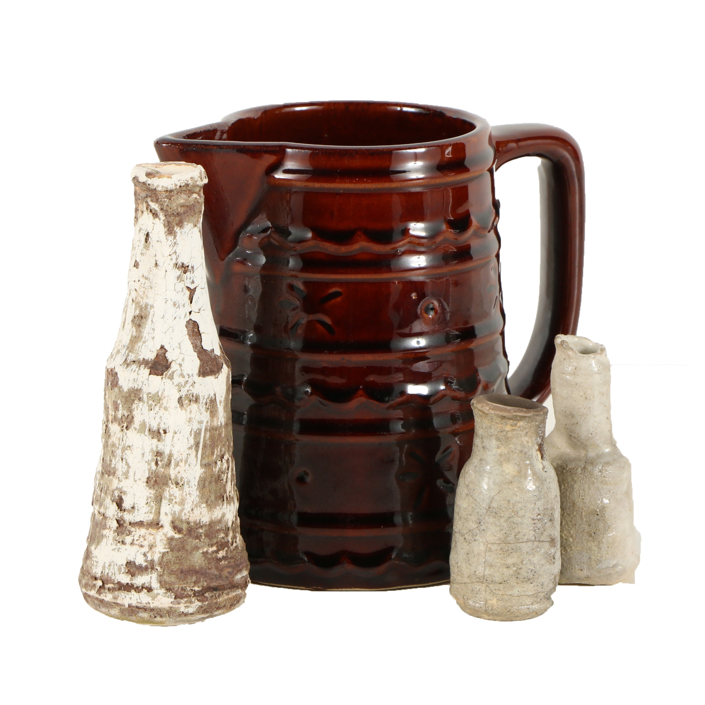 Kati Russell Bud Vessels and Marcrest Ceramic Pitcher