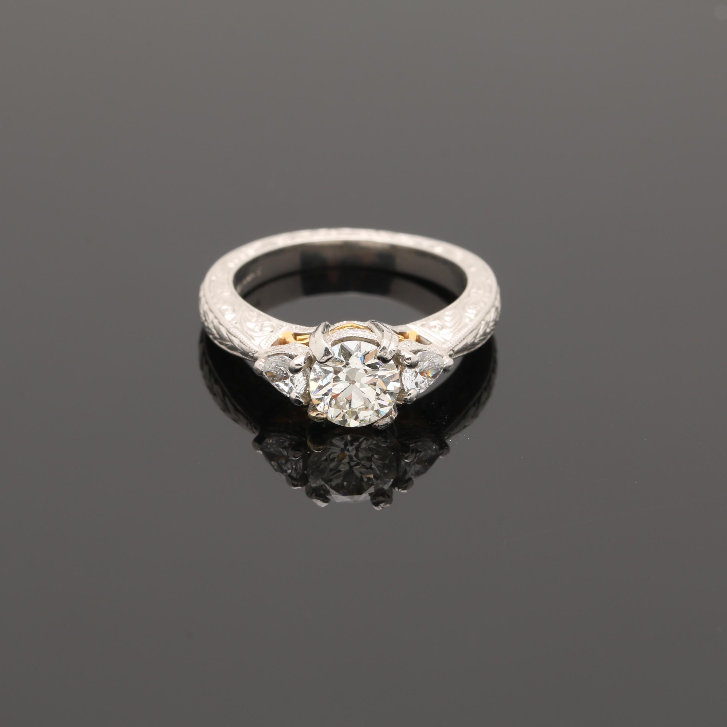 Platinum 1.04 CTW Diamond Ring