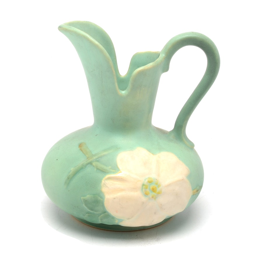 Roseville Auto Sales >> Vintage Weller Pottery Dogwood Pitcher | EBTH