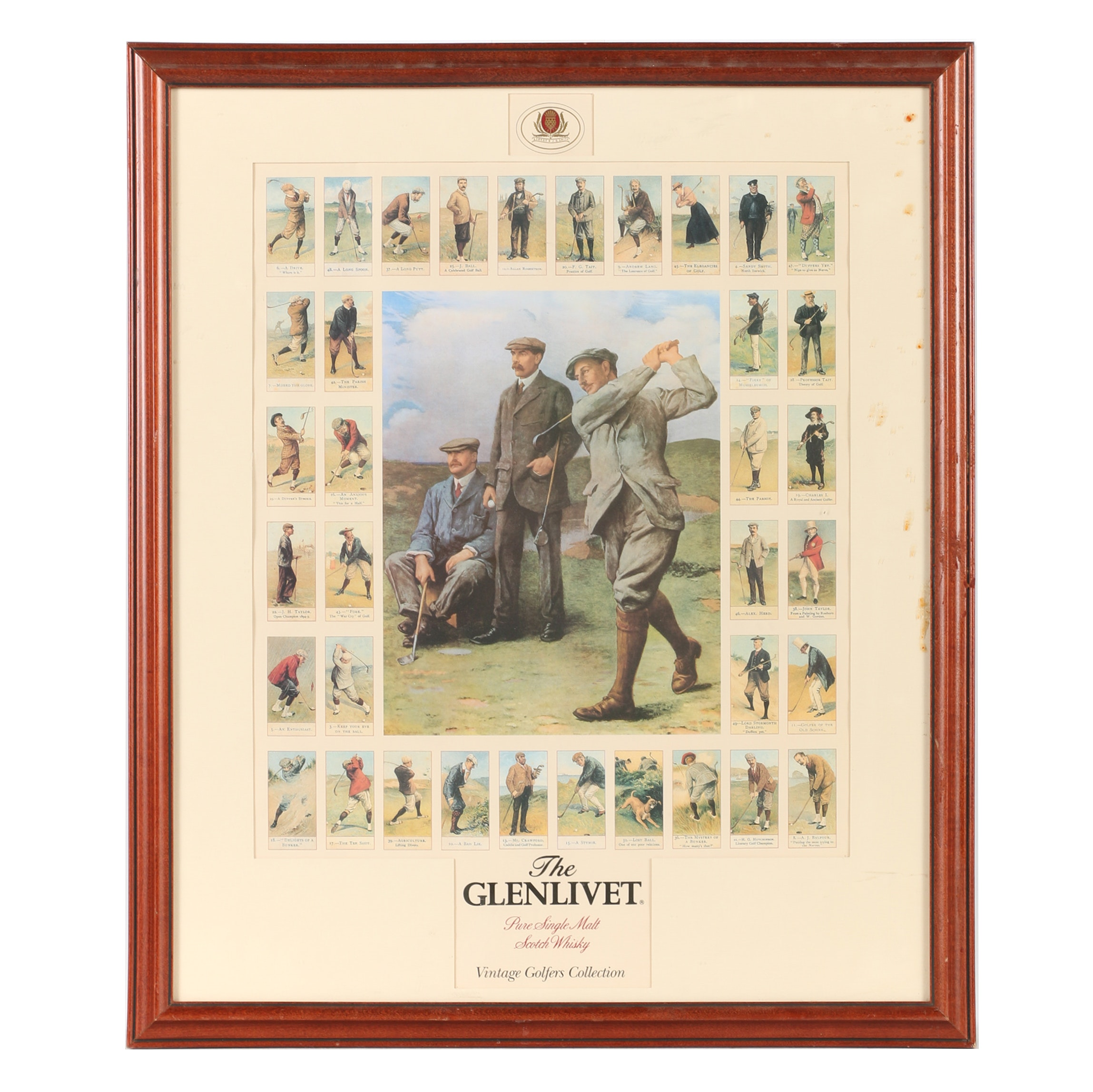 "The Glenlivet Offset Lithograph ""Vintage Golfers Collection"""