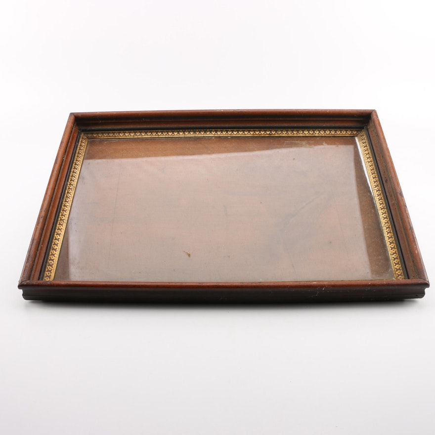Vintage Wooden Frame with Glass Insert : EBTH