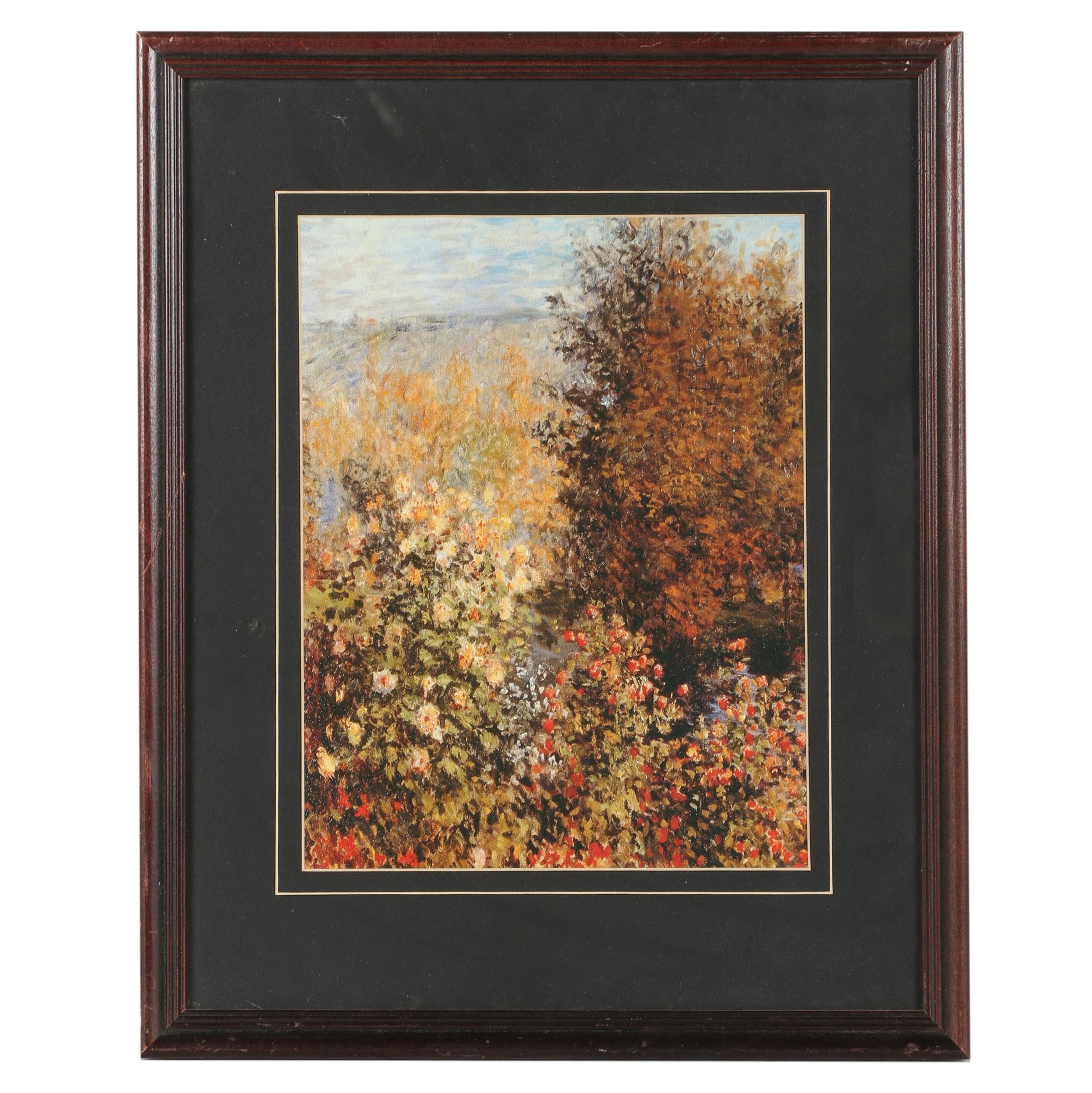 Offset Lithograph of Impressionistic Landscape