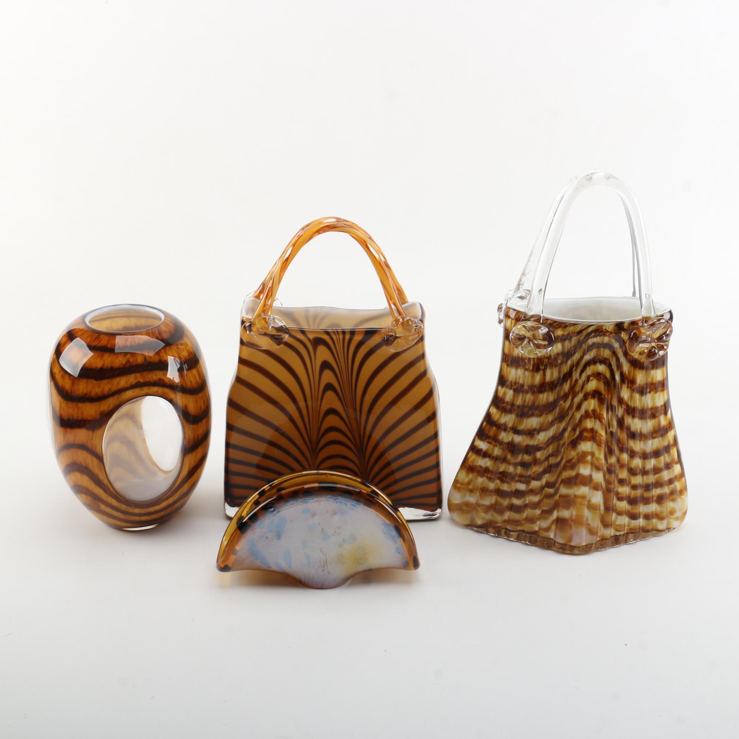 Decorative Art Glass Vessels Including Italian