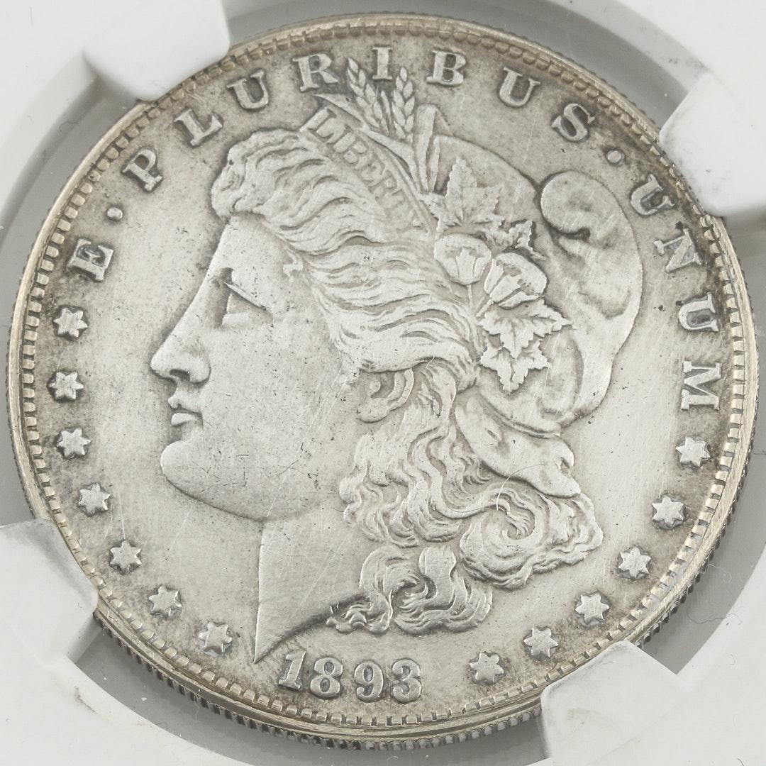 NGC Graded VF Details 1893 Carson City Morgan Silver Dollar
