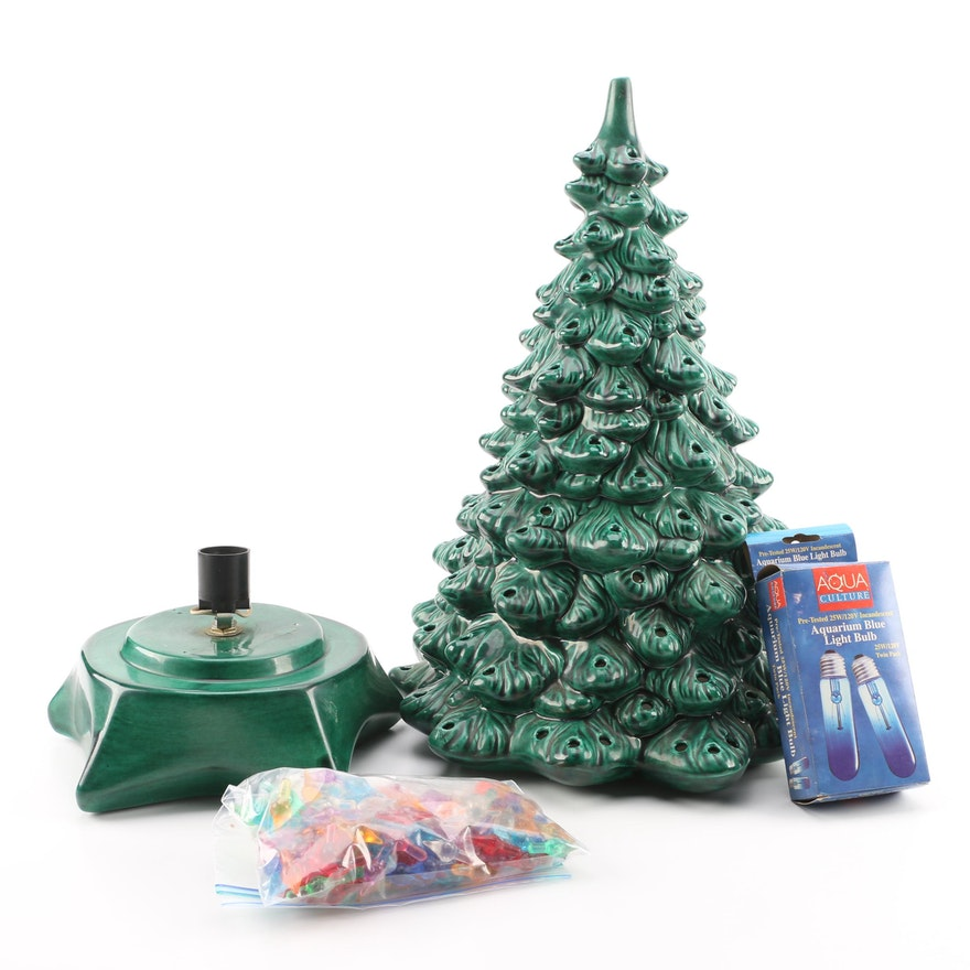 ceramic christmas tree and accessories