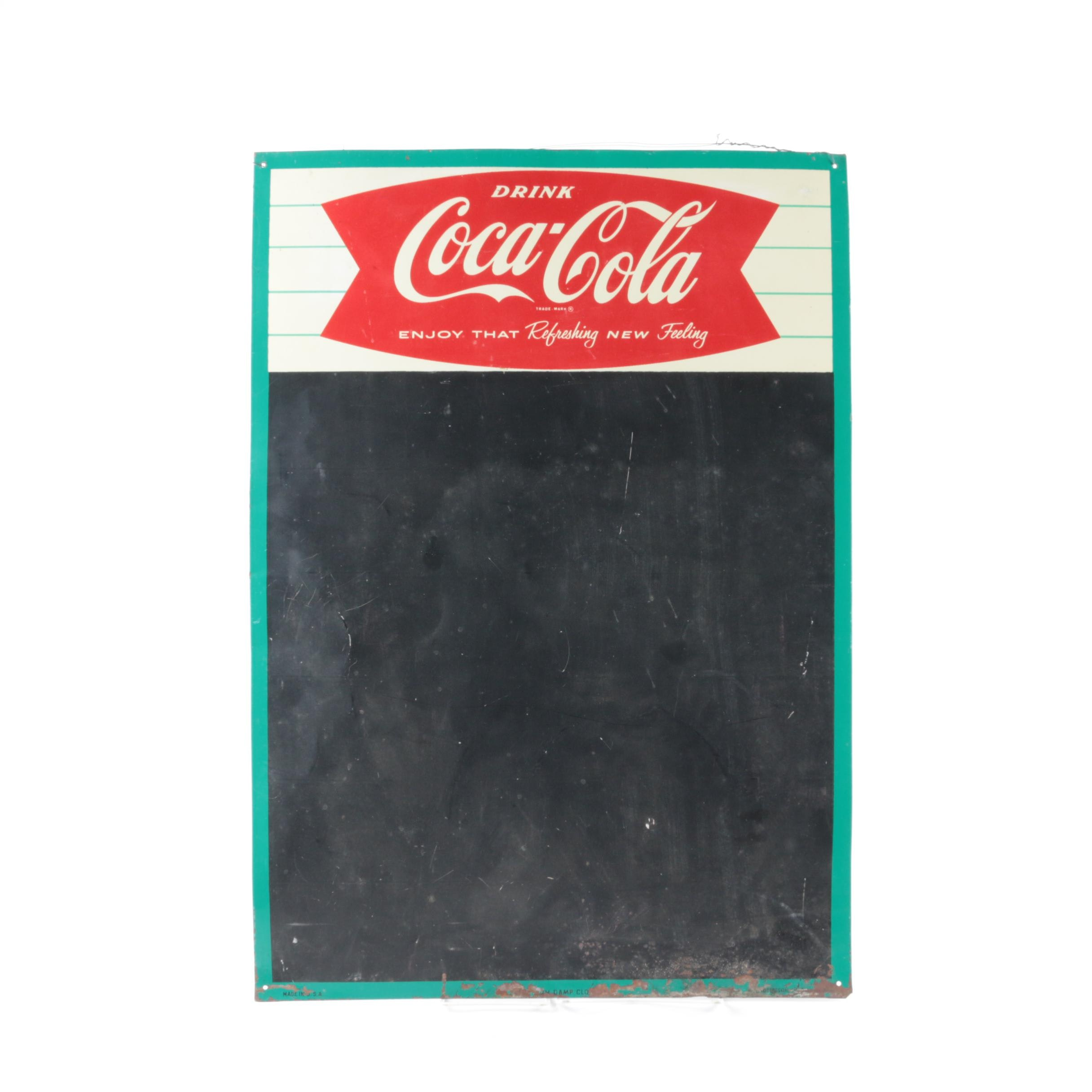 Vintage Coca-Cola Menu Board