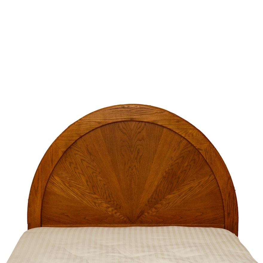 Oak Full Size Arched Headboard
