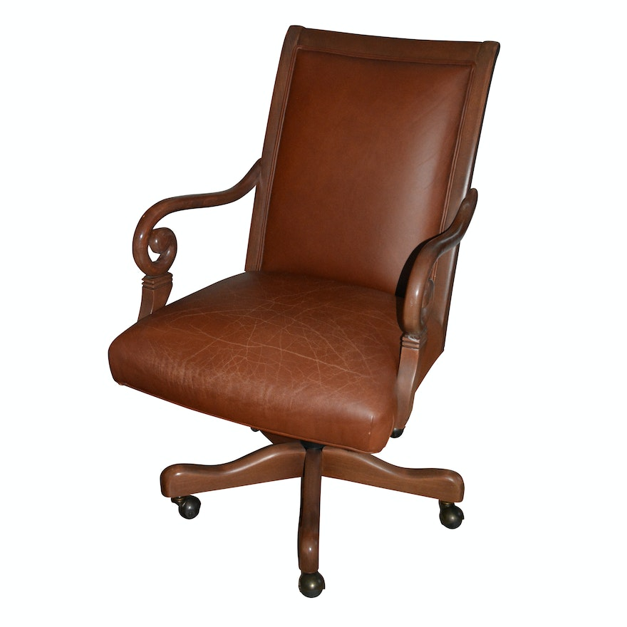 Peachy Rolling Office Chair By Ethan Allen Short Links Chair Design For Home Short Linksinfo