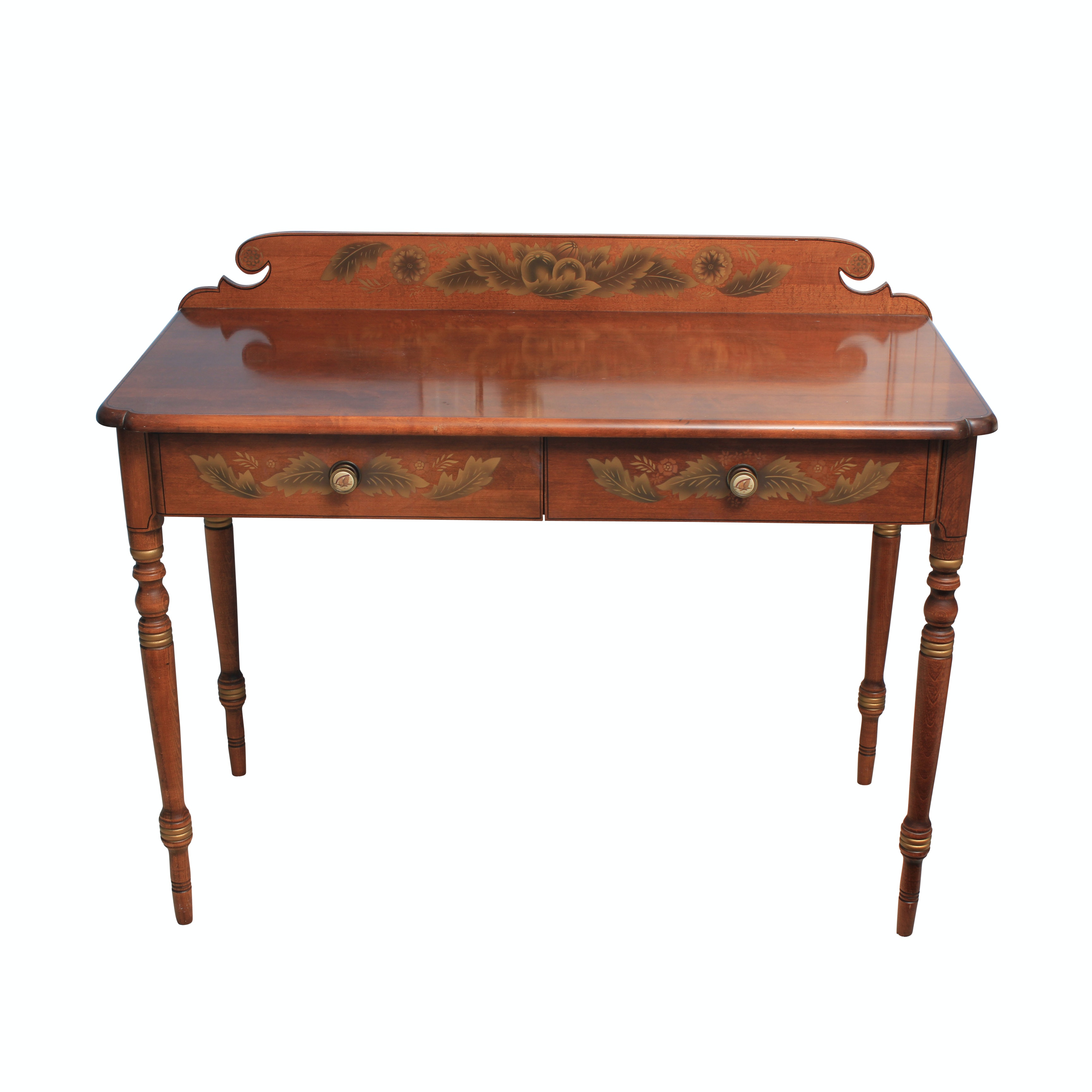 Hitchcock Stenciled Maple Writing Desk
