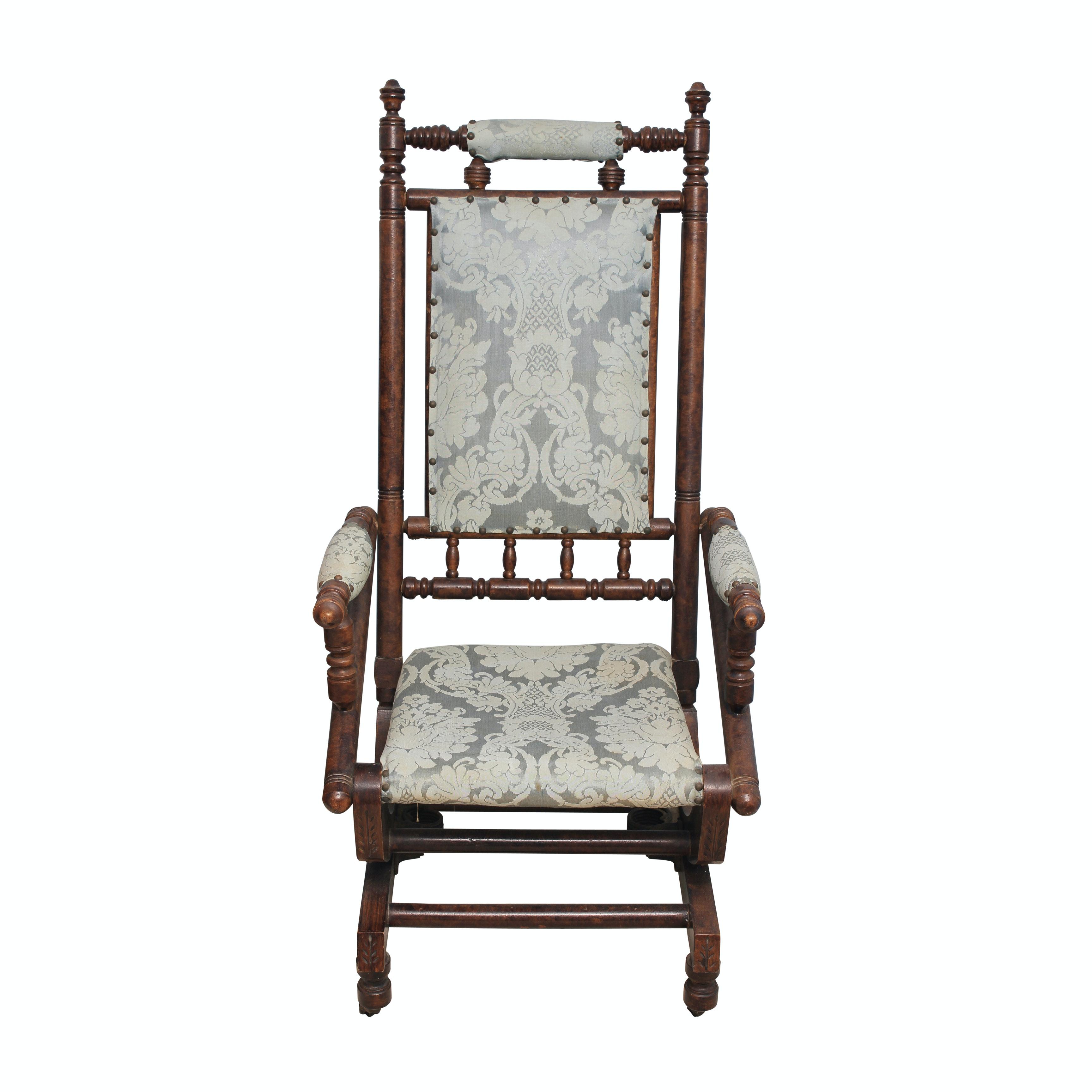 Late Victorian Platform Rocking Chair