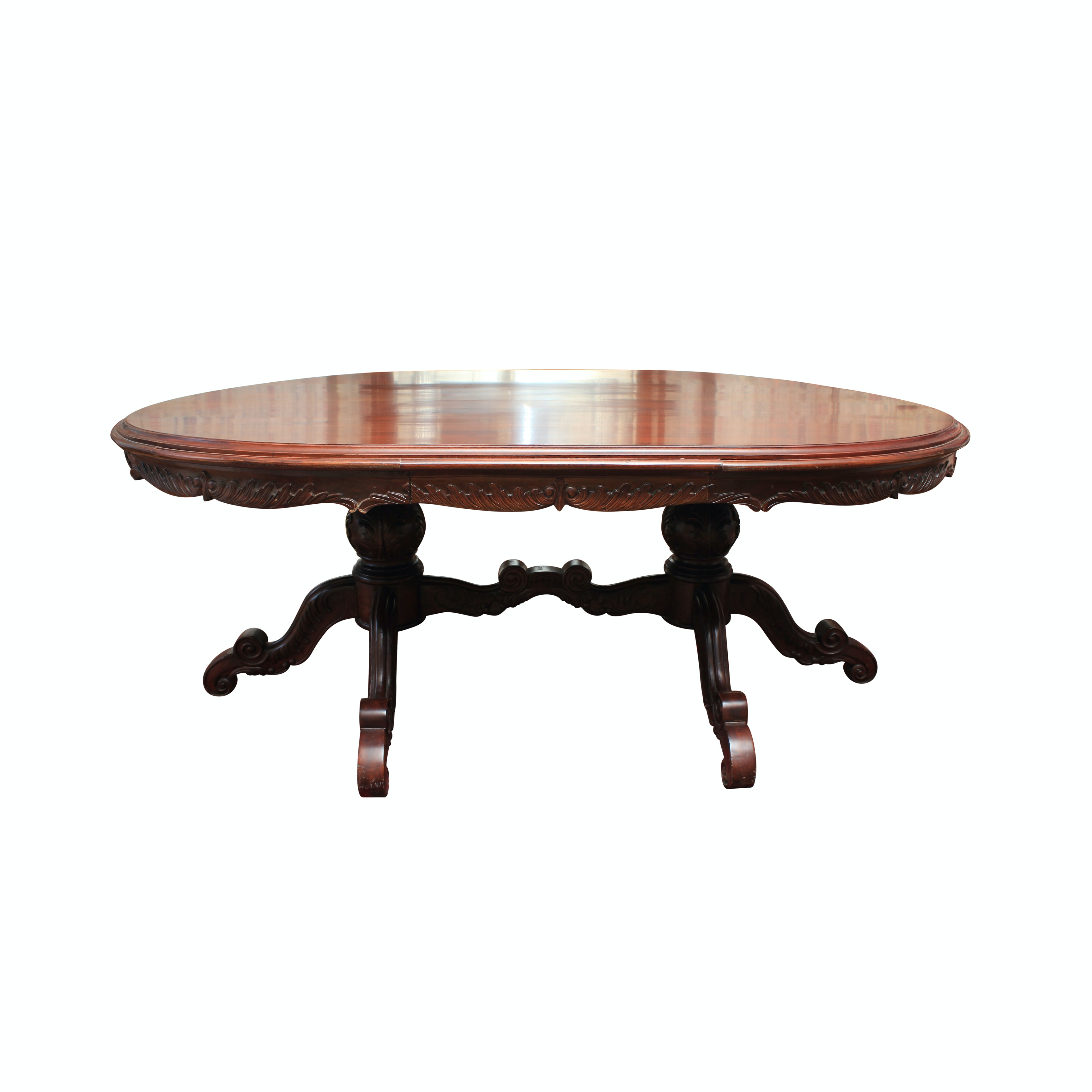Victorian Style Double Pedestal Dining Table
