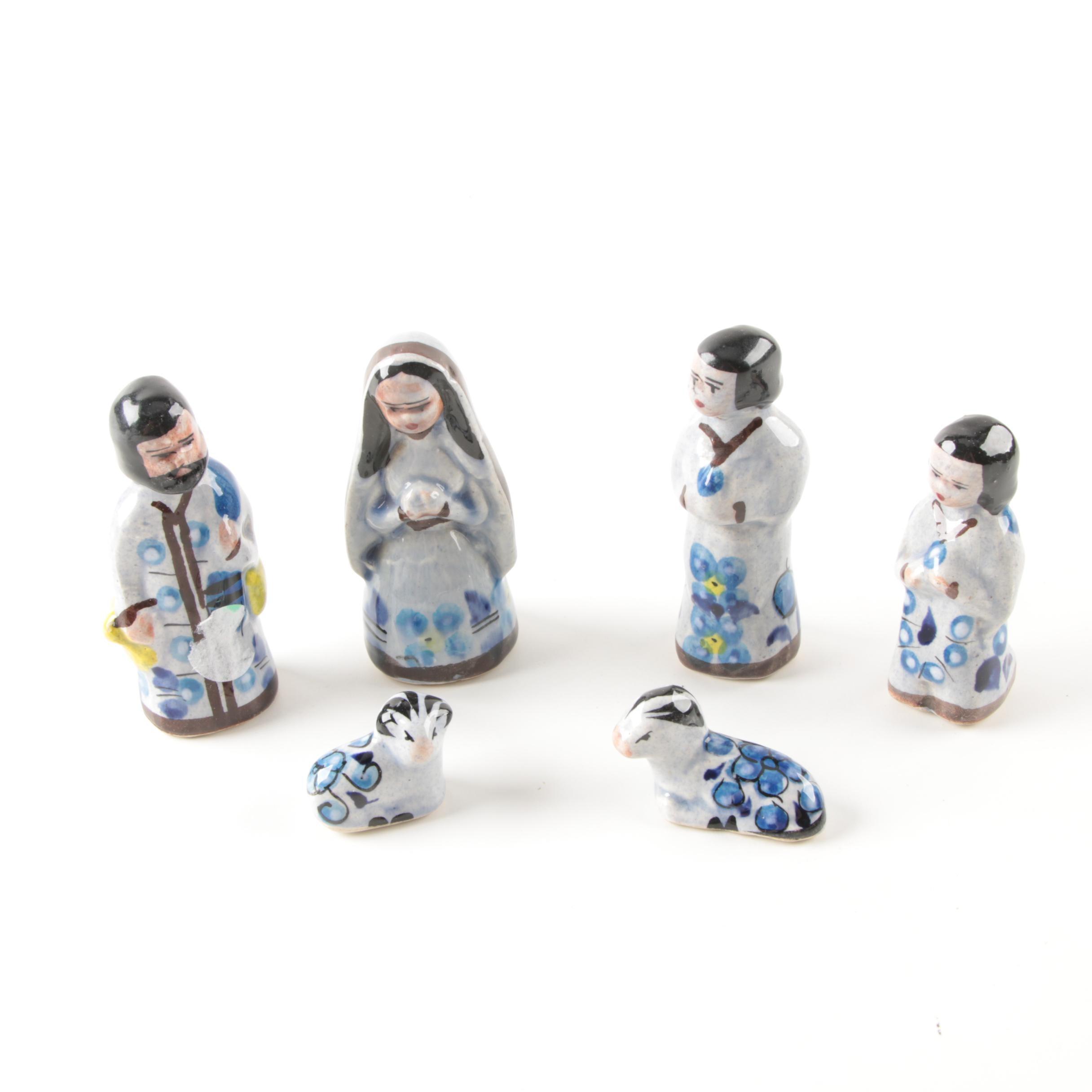 Hand Painted Ceramic Nativity Figurines
