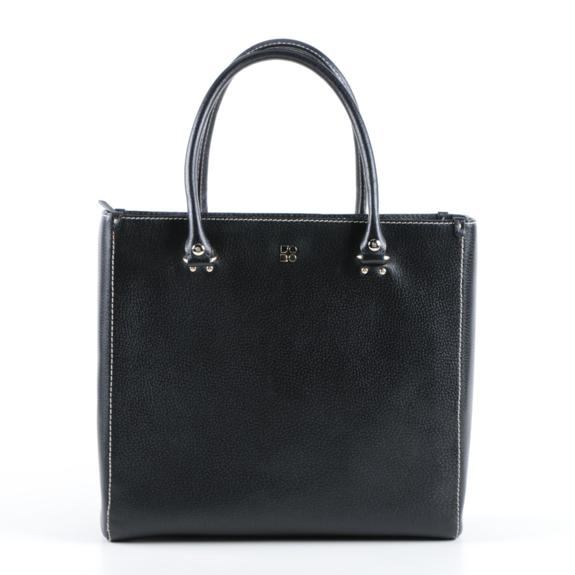 Kate Spade New York Black Leather Tote Handbag