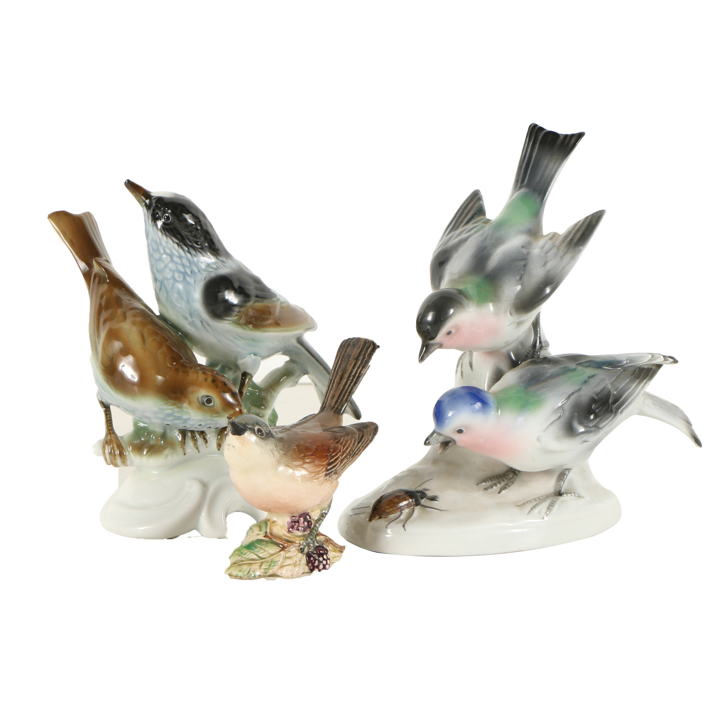 Gerold & Co. and Beswick Porcelain Bird Figurines