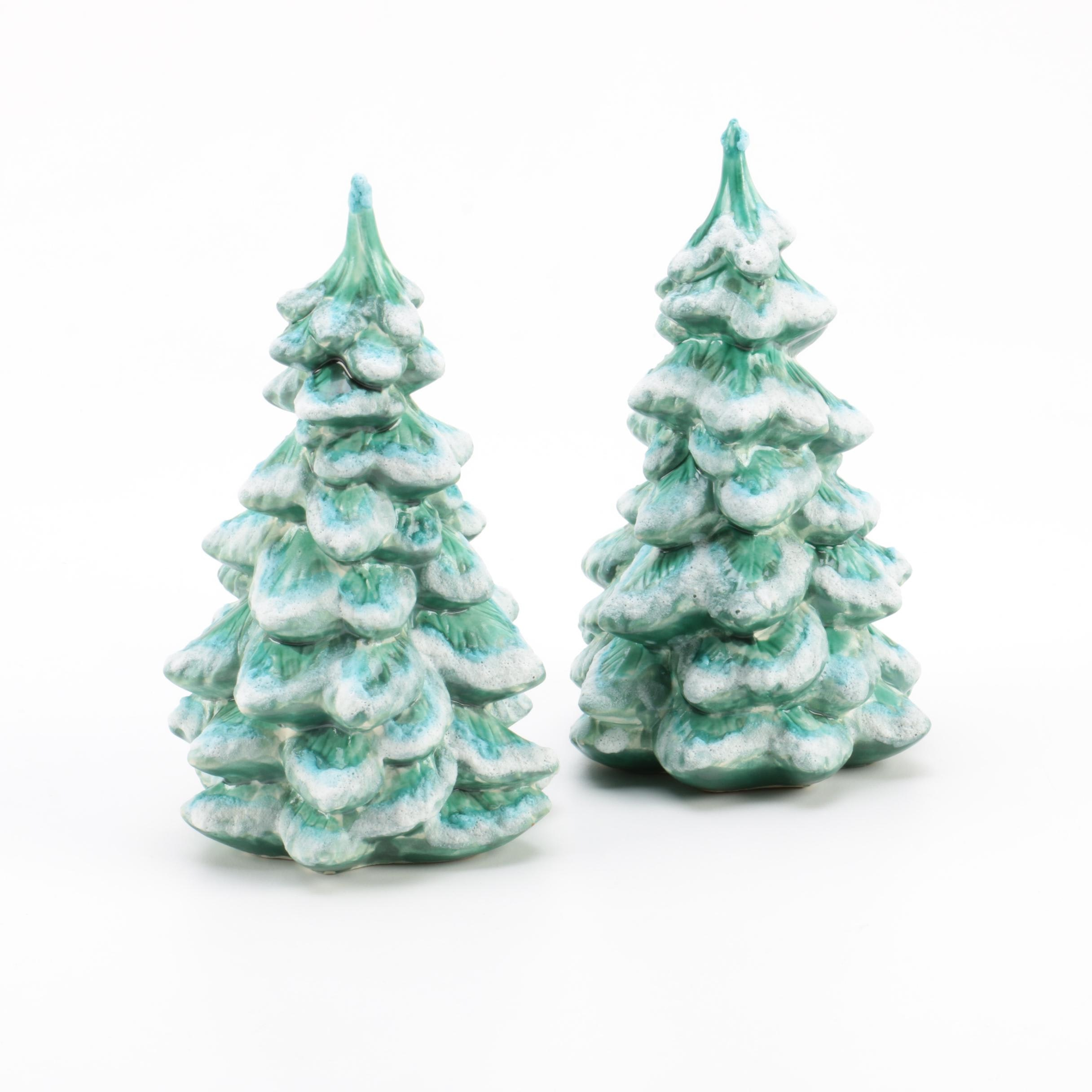 Vintage Holland Mold Ceramic Christmas Trees