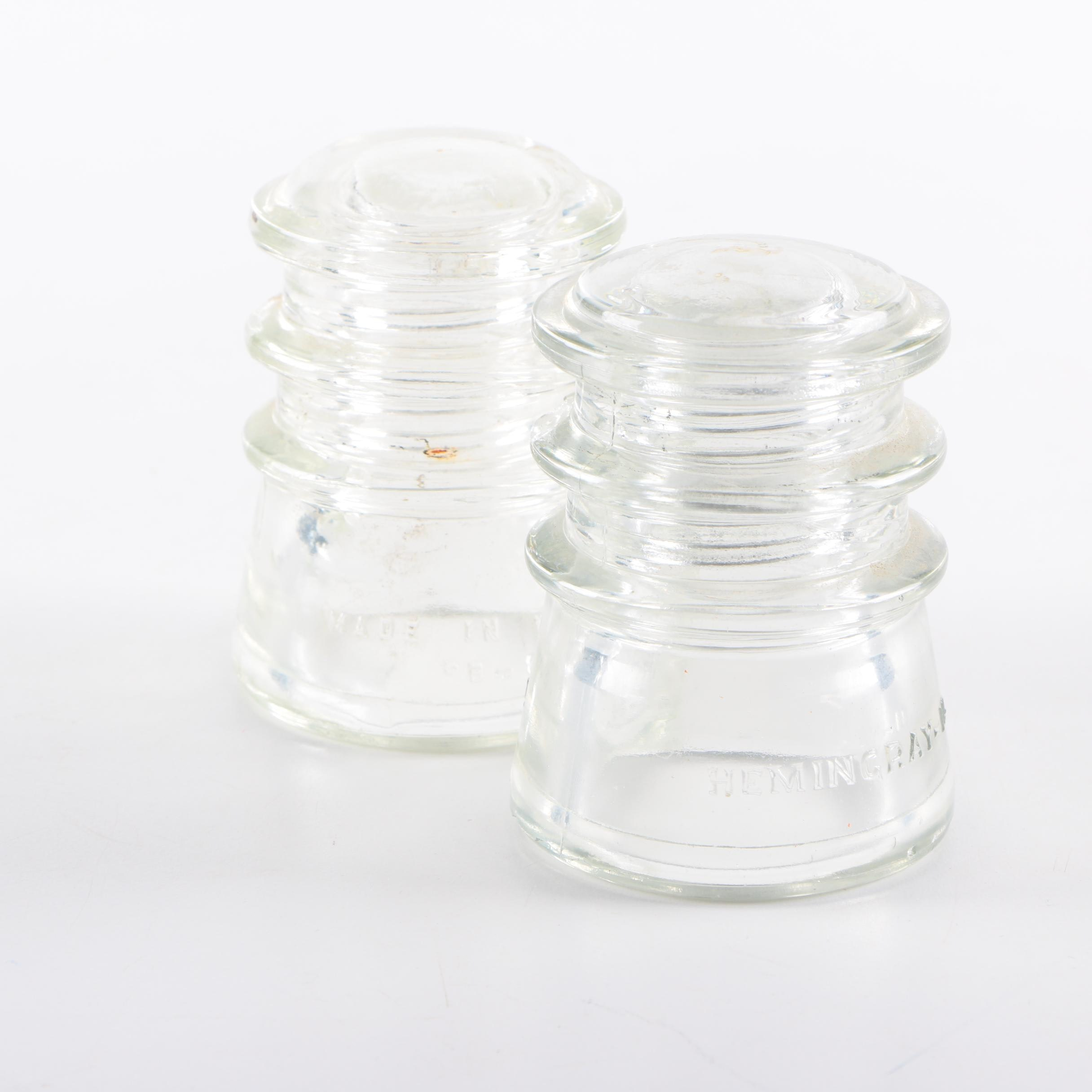 Vintage Hemingray Glass Insulators