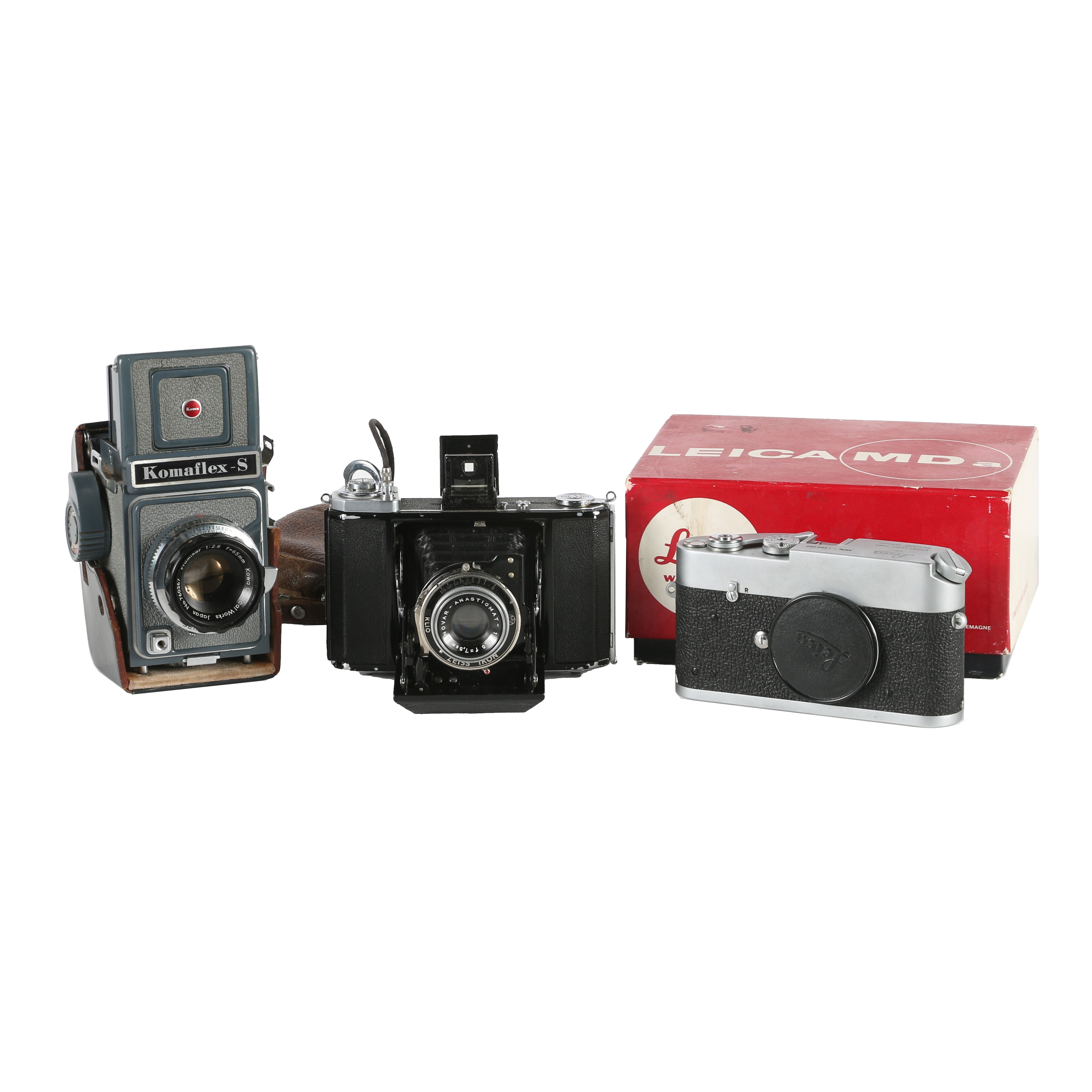 Komaflex, Leica, and Zeiss Ikona Vintage Cameras