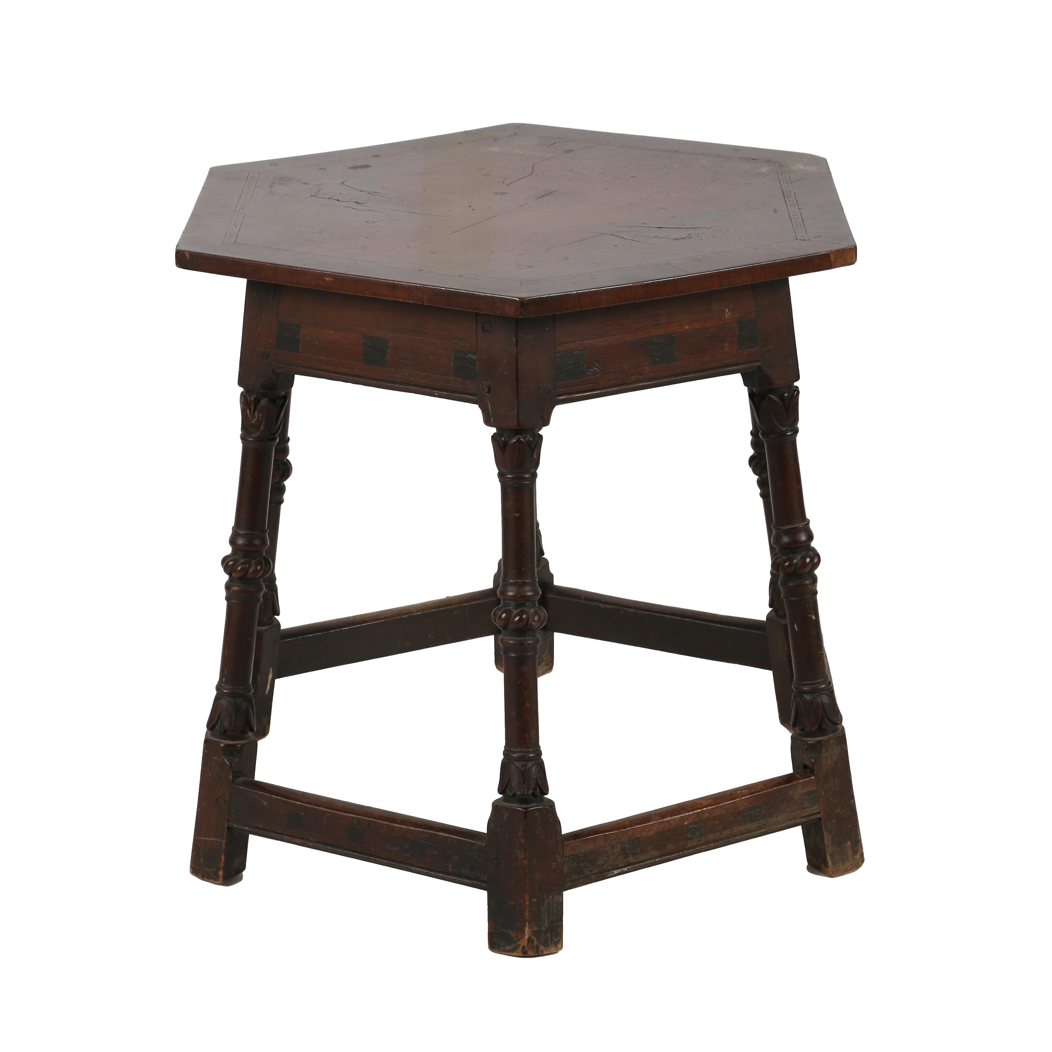 Vintage English Revival Side Table