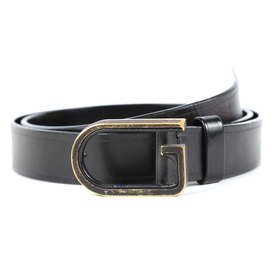 7679ff266d9 Men s Gucci Black Leather Belt   EBTH