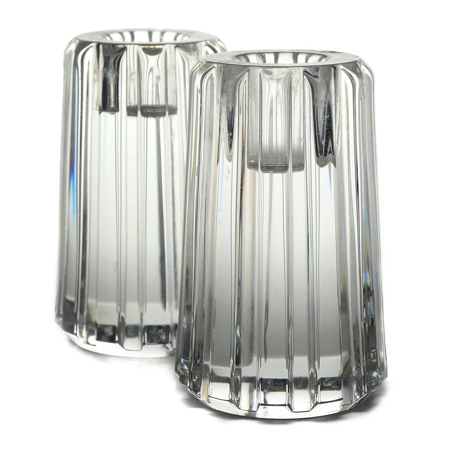 "Tiffany & Co. Crystal ""Rotary""  Candleholders"