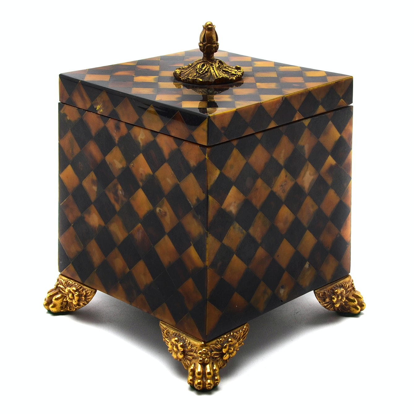 Maitland Smith Footed Trinket Box