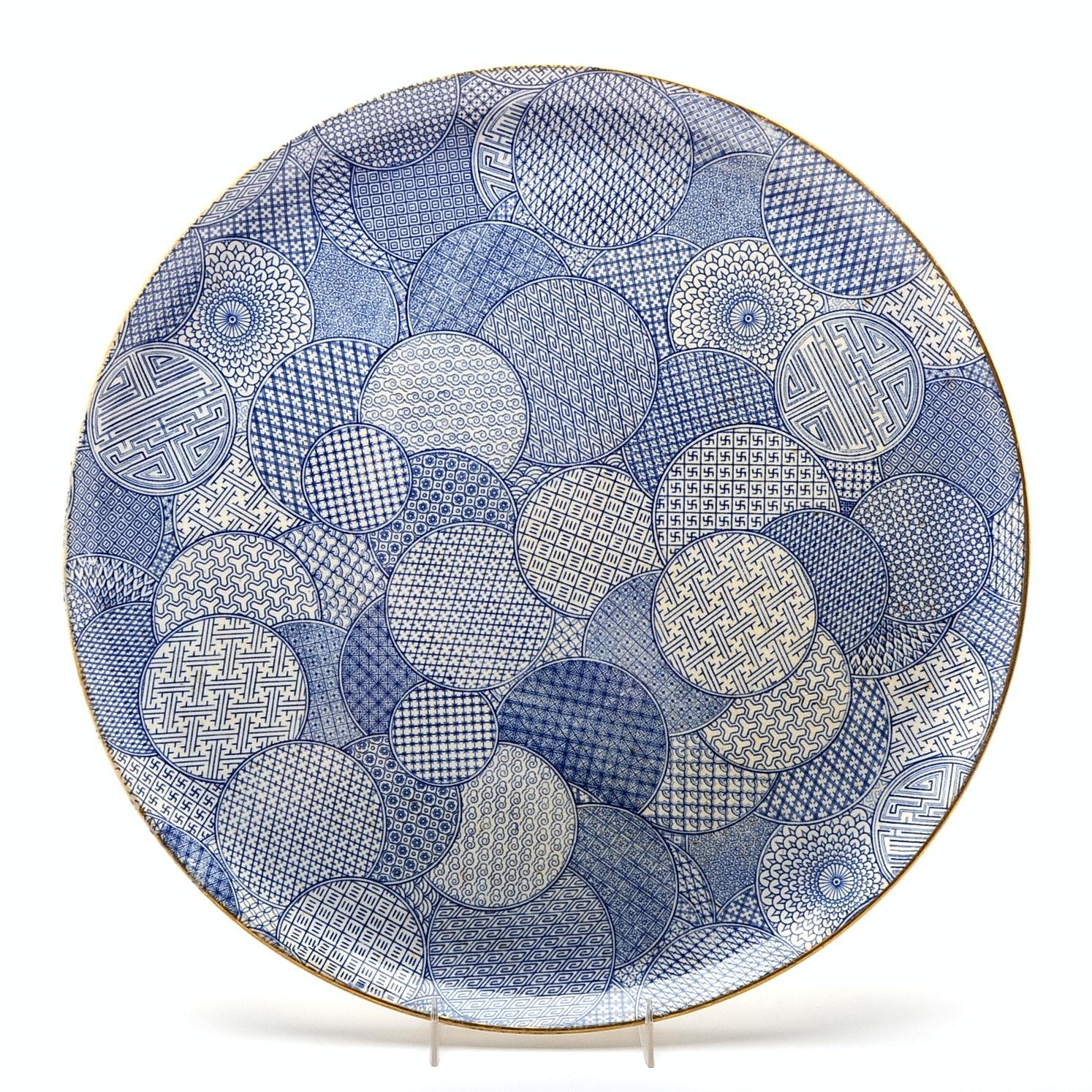 Royal Worcester Porcelain Imari Design Charger