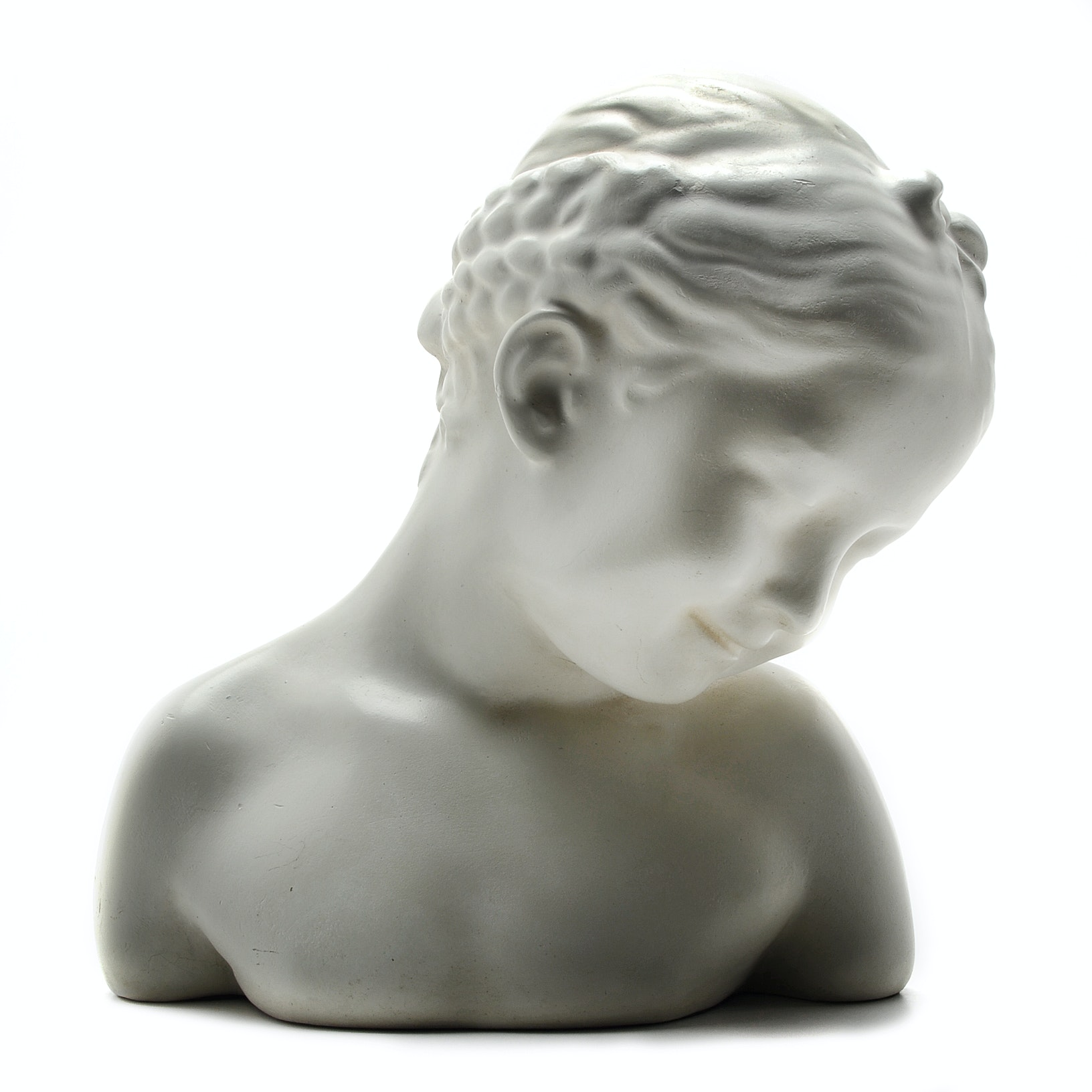 Ceramic Young Girl Bust