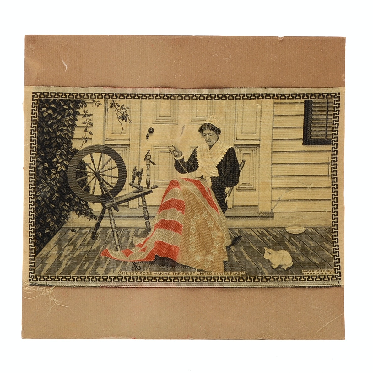 Woven Silk Jacquard Textile Of Betsy Ross