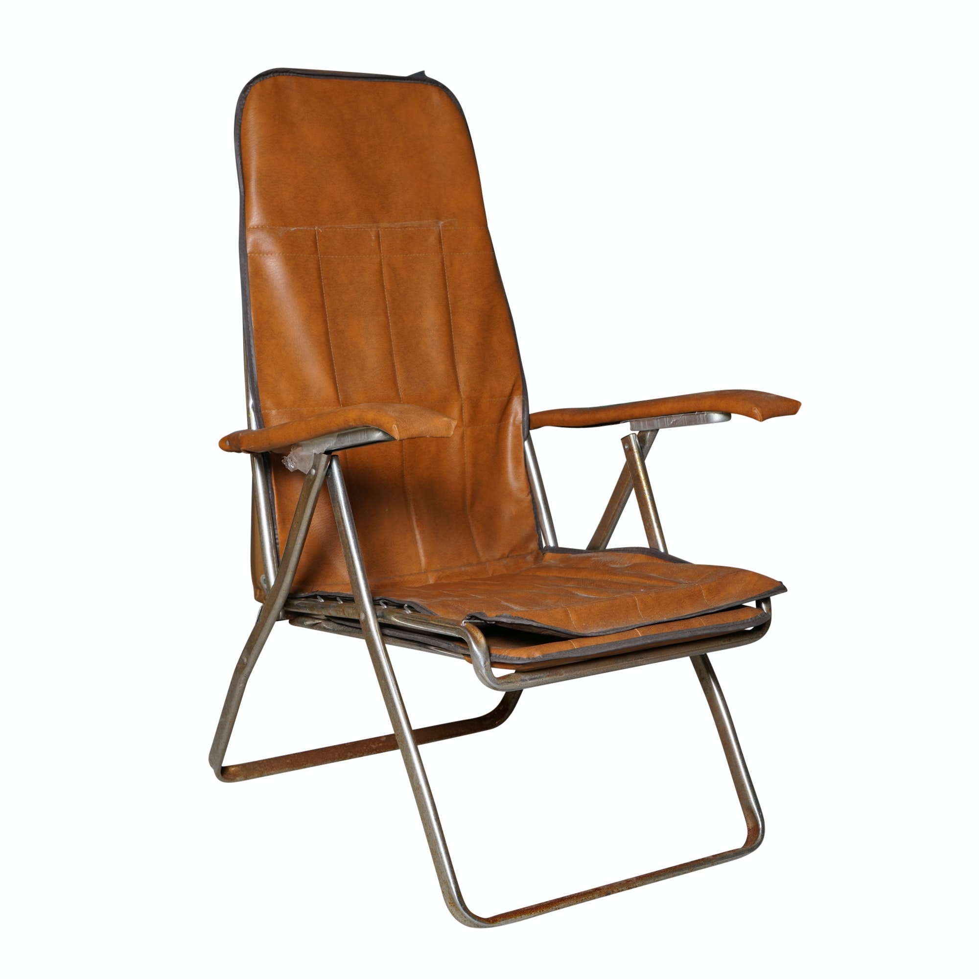 Italian Faux Leather Folding Chair