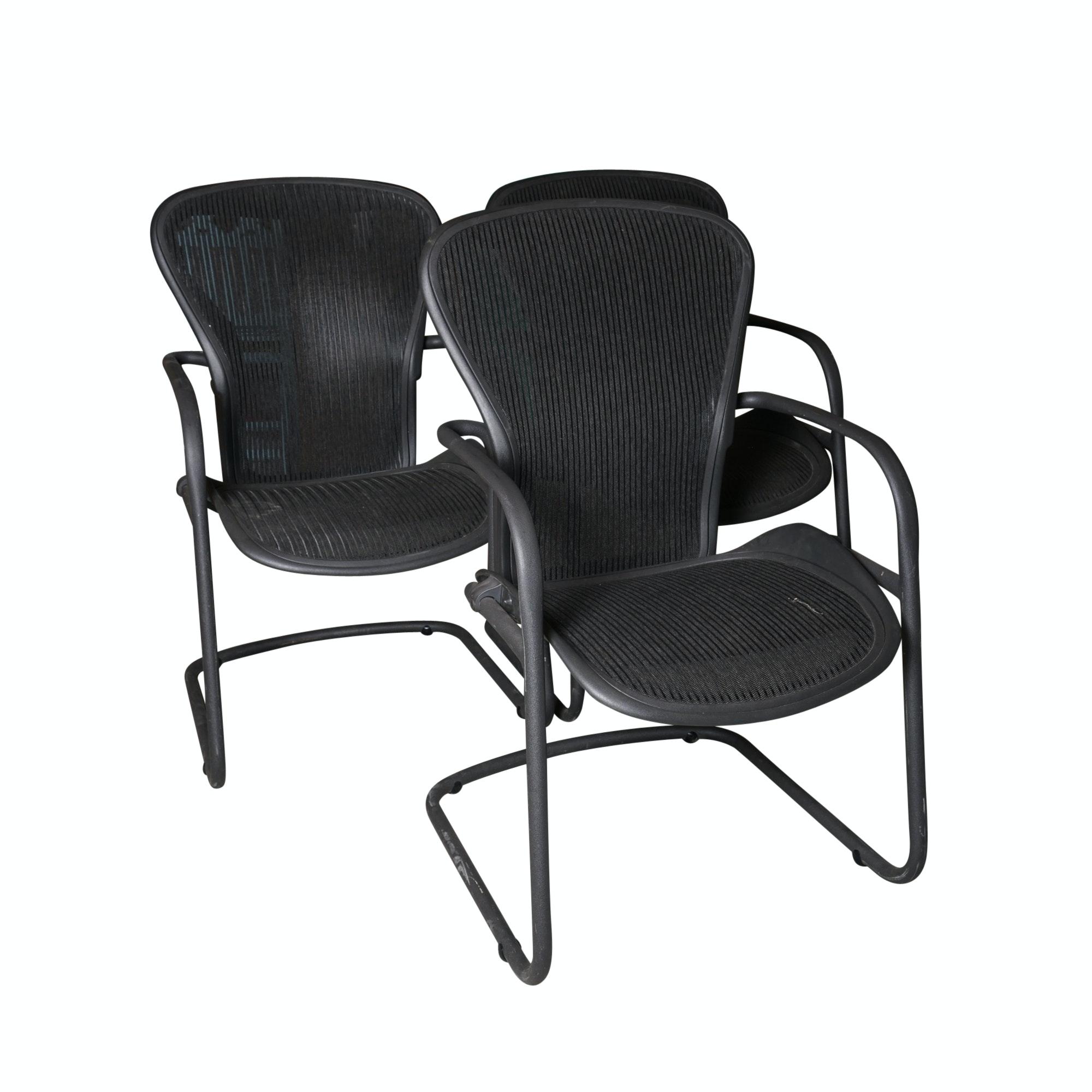 "Three Herman Miller ""Aeron"" Office Side Chairs"