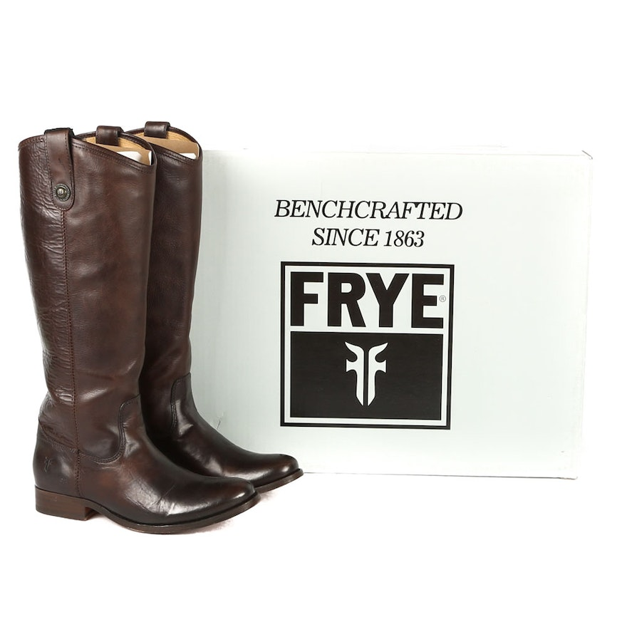 a92190a5844 Frye Melissa Button Leather Boots   EBTH