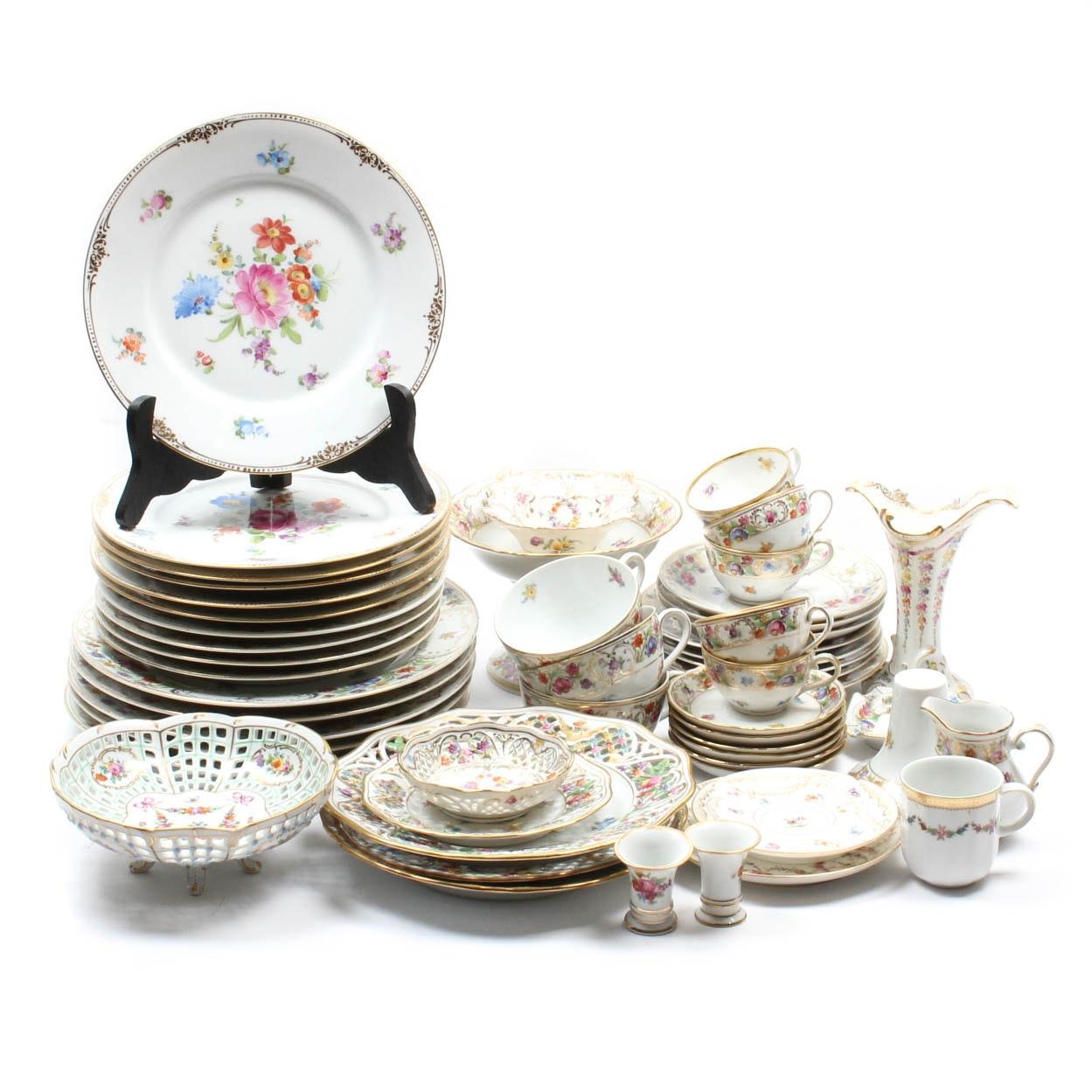 Vintage Dresden Dresdner and German Floral Porcelain Tableware ...  sc 1 st  EBTH.com & Vintage Dresden Dresdner and German Floral Porcelain Tableware : EBTH