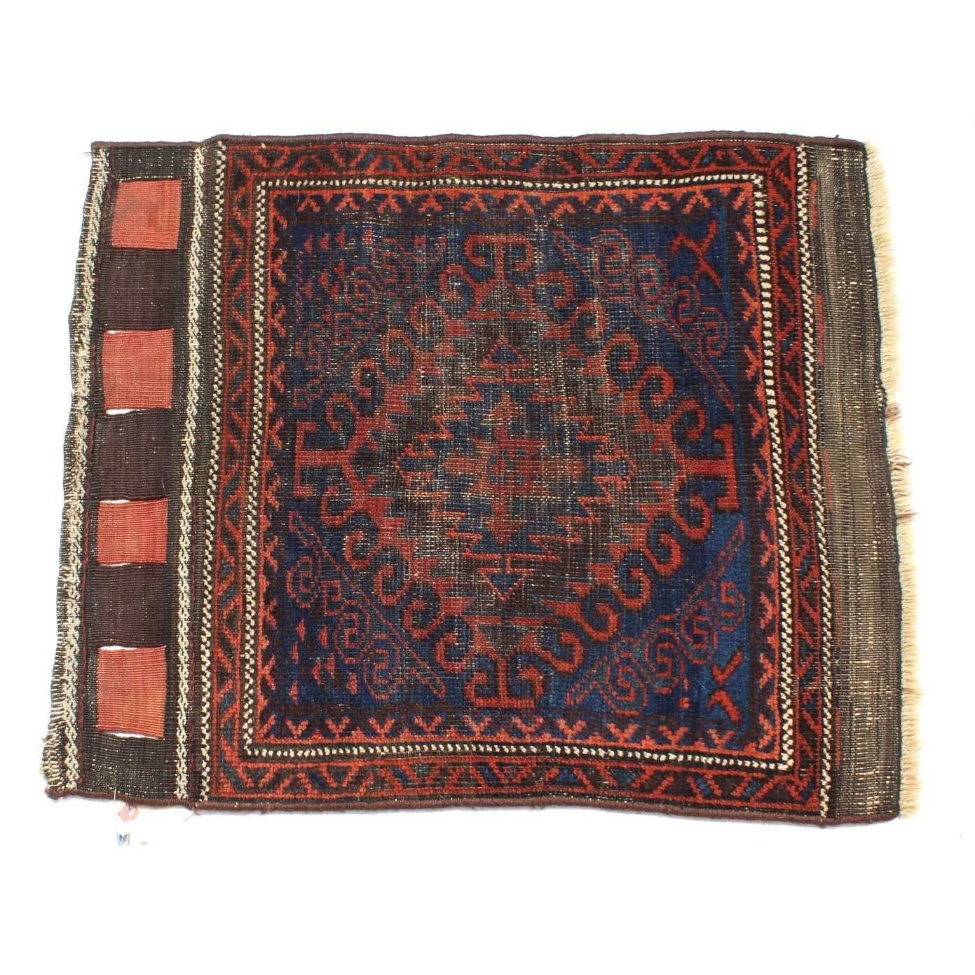 Antique Hand-Knotted Persian Baluch Accent Rug