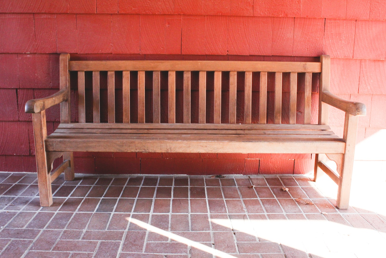 Long Teak Garden Bench by Country Casual