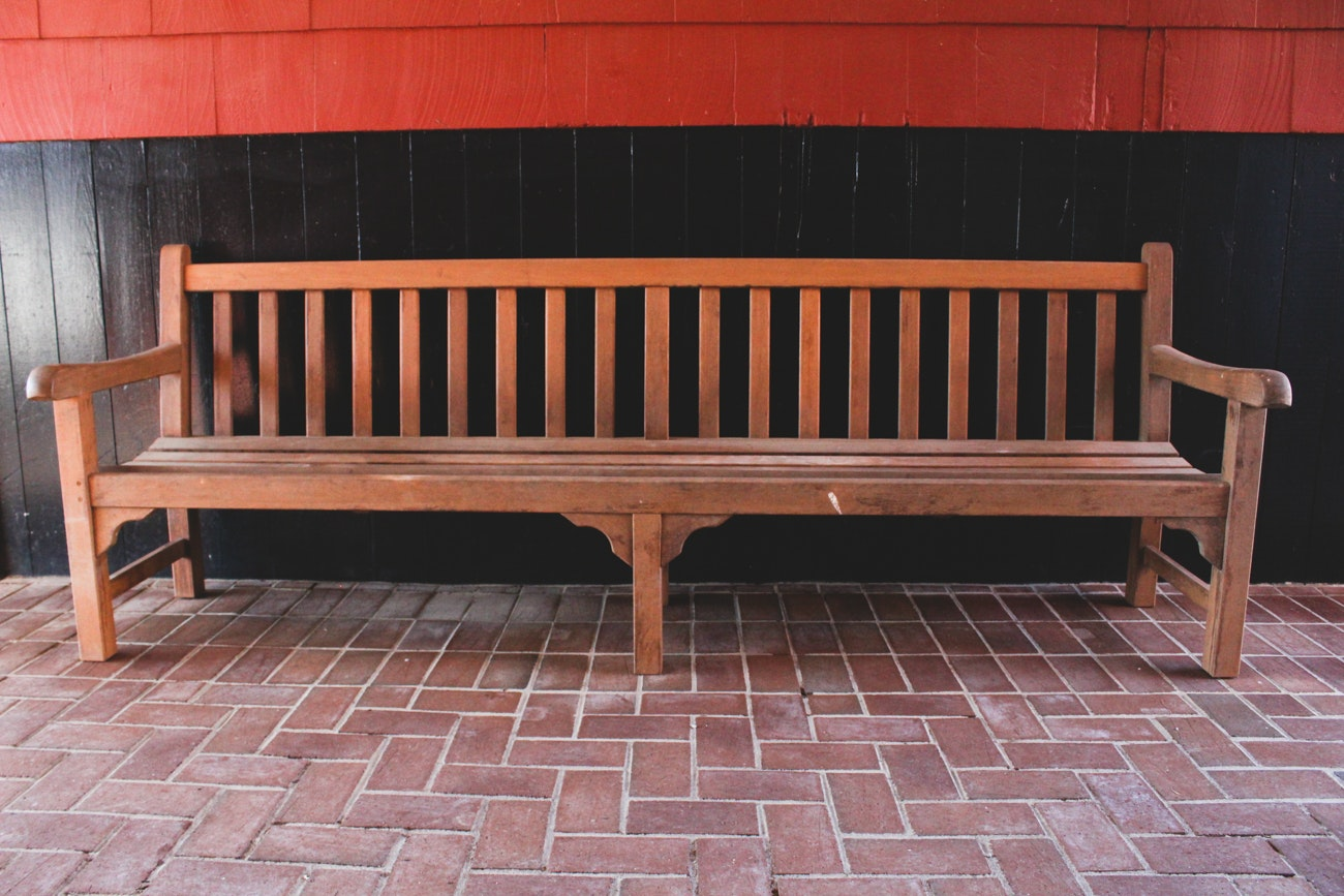 Extra-Long Teak Garden Bench by Country Casual