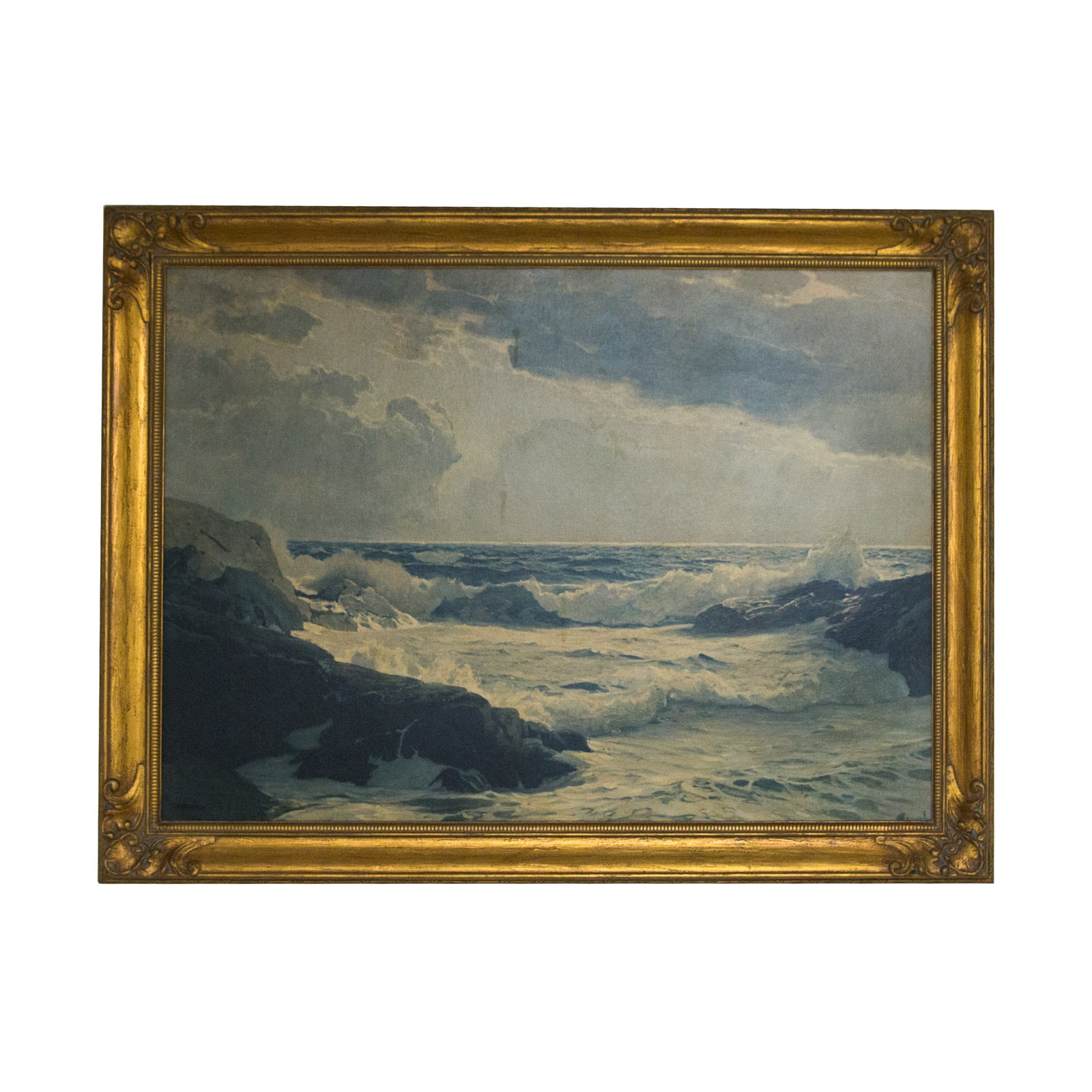 Reproduction Print after Frederick Judd Waugh Coastal Scene