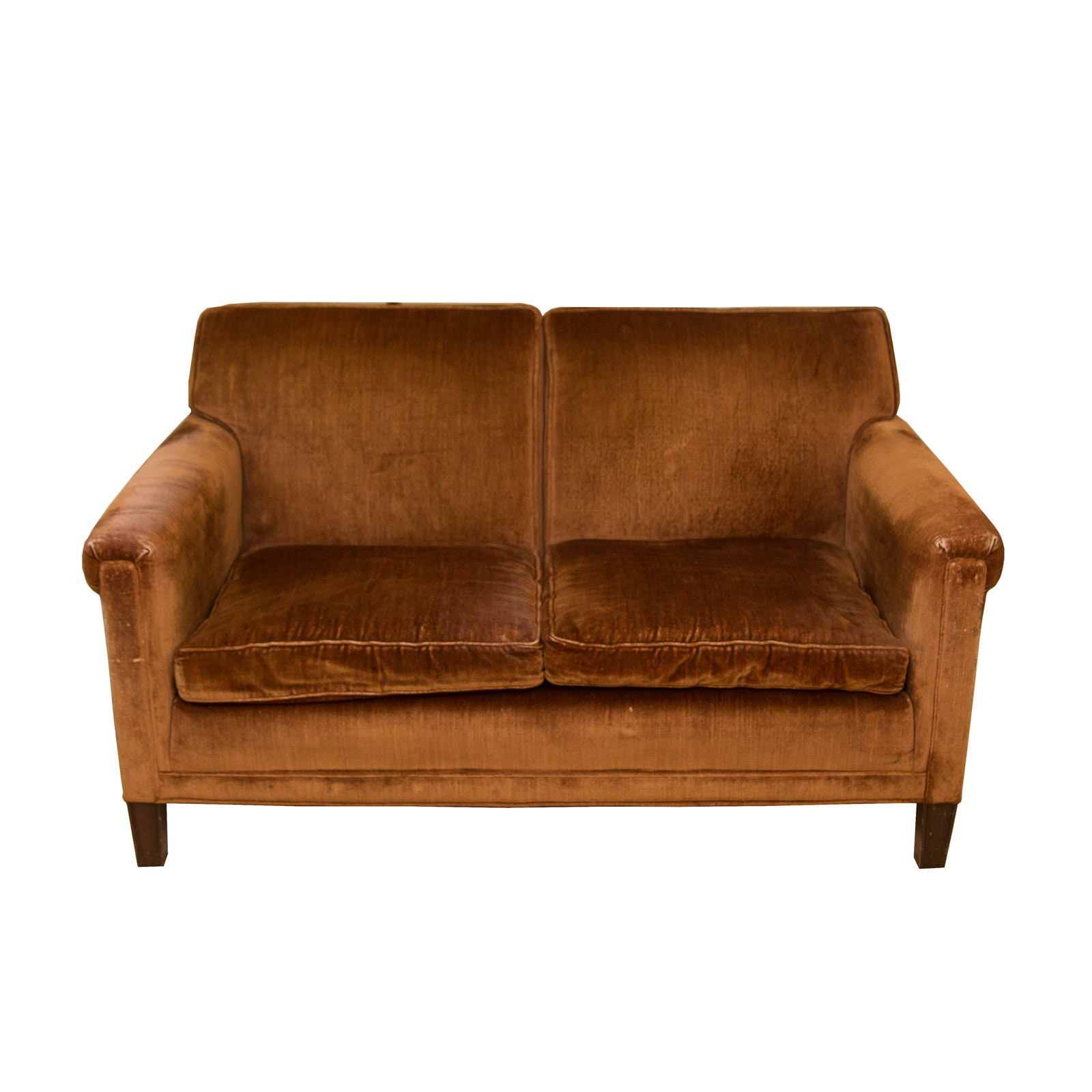 Vintage Upholstered Copper Coloured Sofa