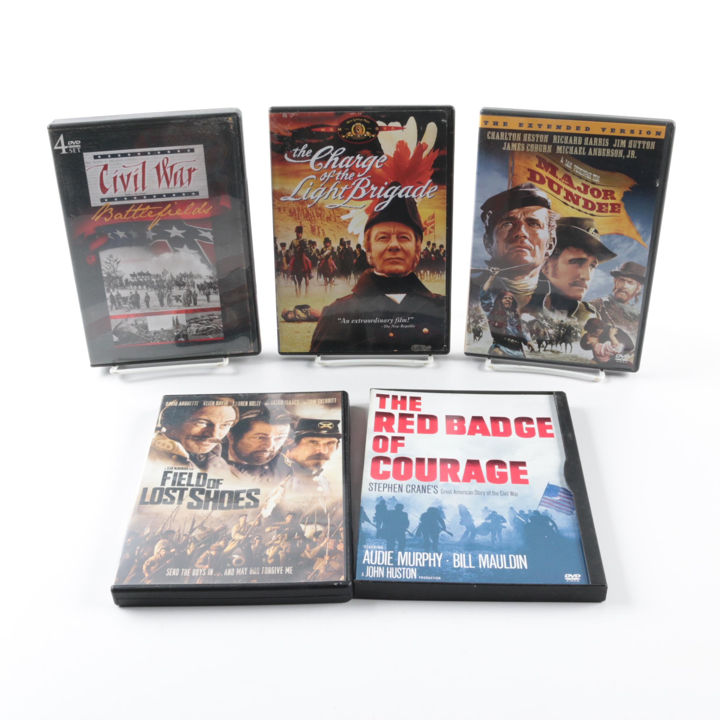 Collection of Five War Themed DVDs