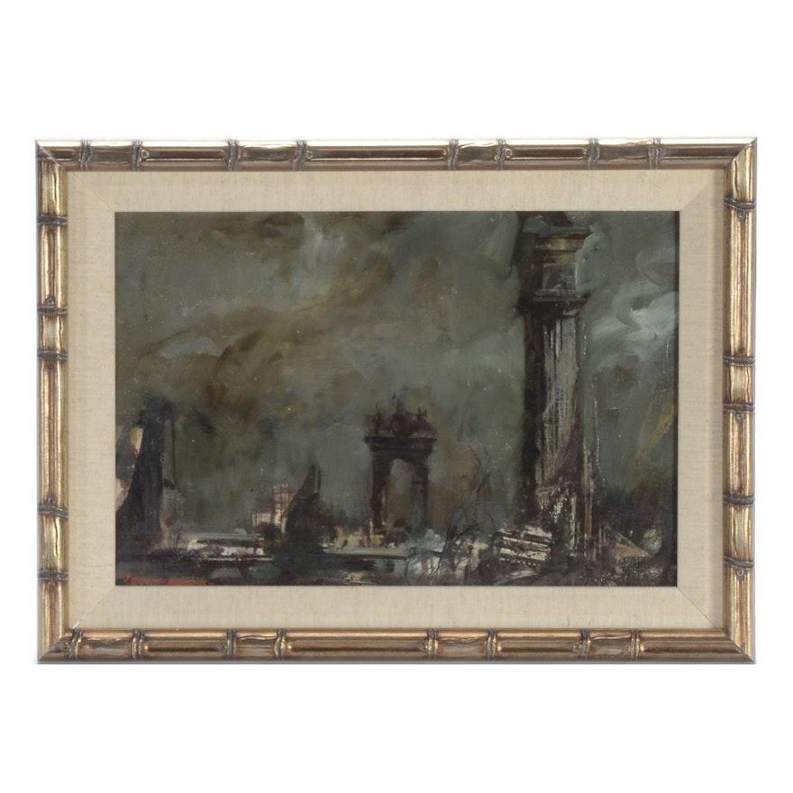 John Annus Oil Painting American Academy in Rome : EBTH