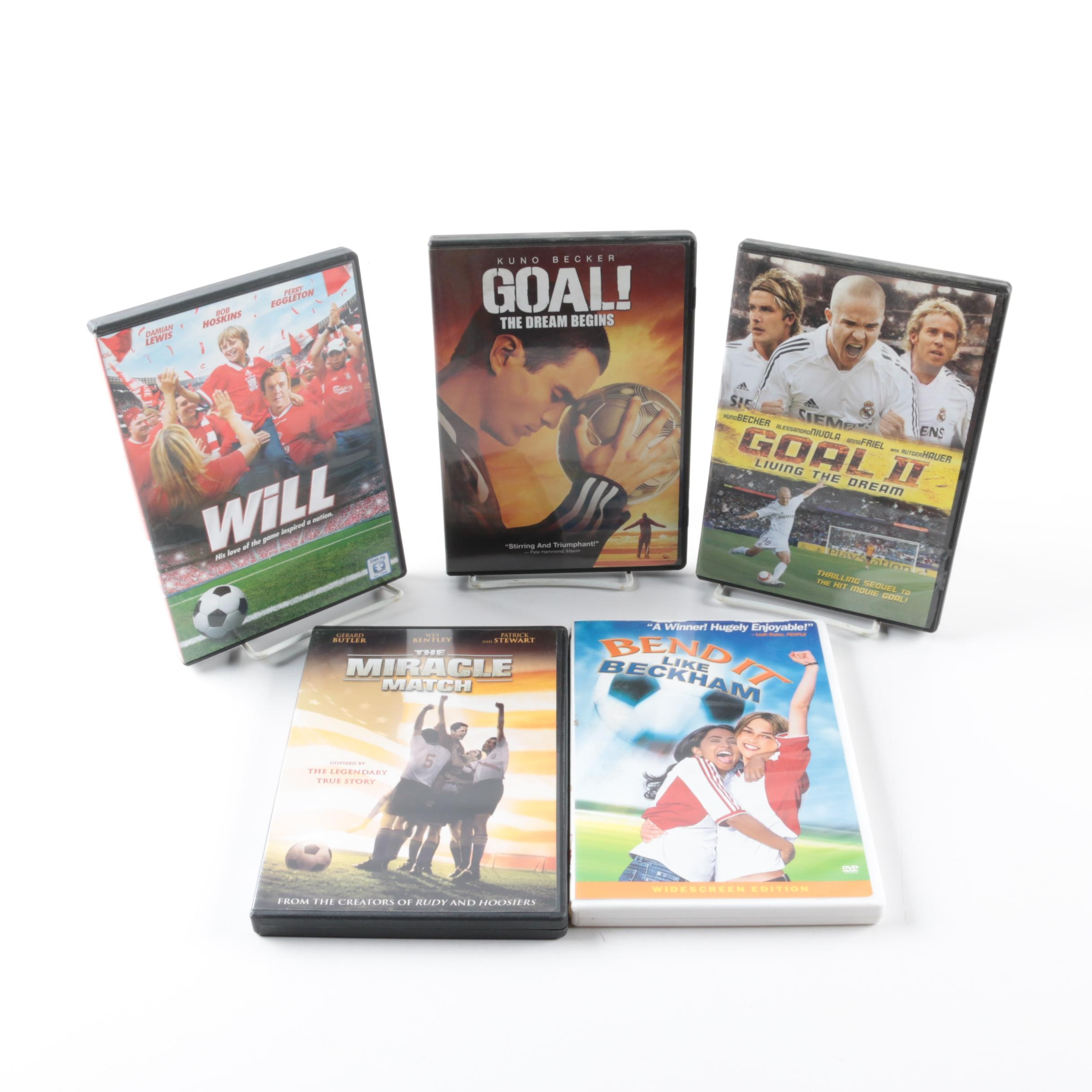 Collection of Five Soccer Themed DVDs