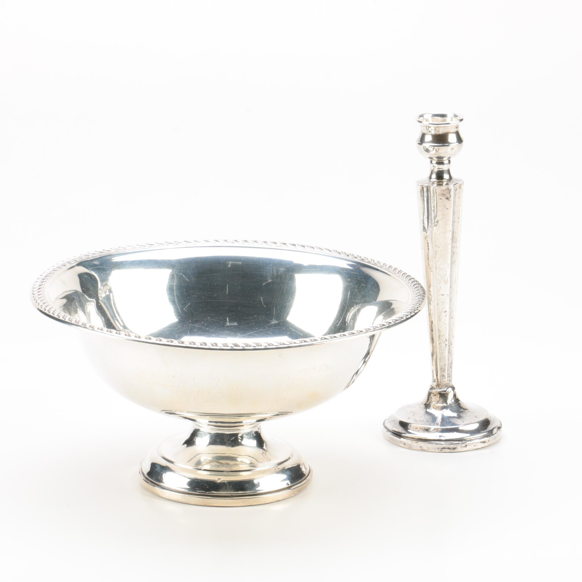 Preisner and Elgin Silversmiths Weighted Sterling Silver Tableware