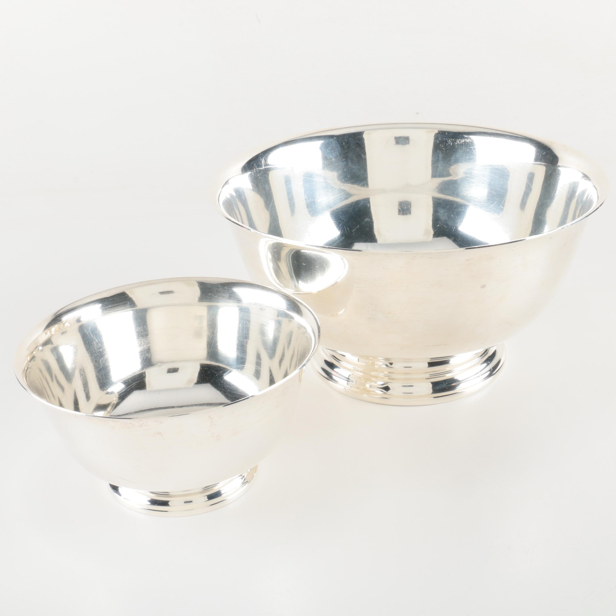 Paul Revere Reproduction Sterling Silver Bowls