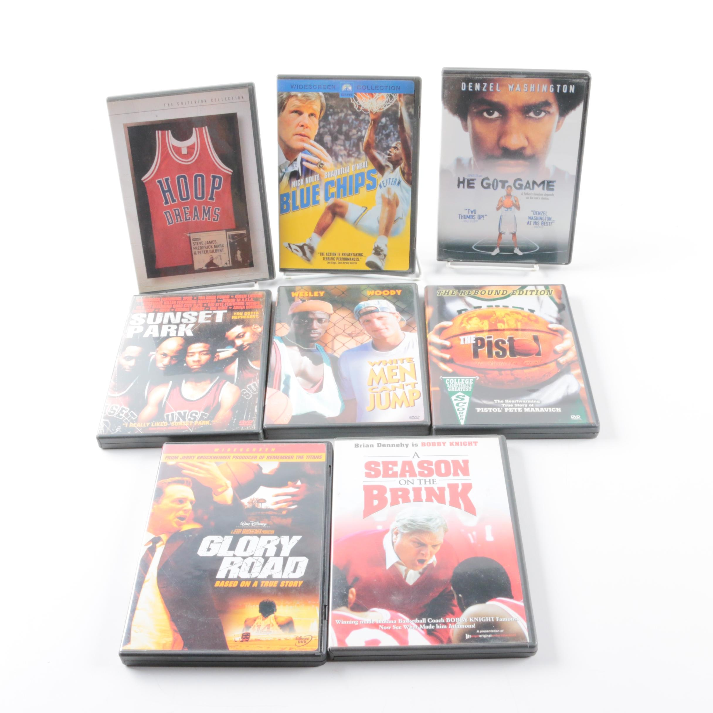 Collection of Eight Basketball DVDs