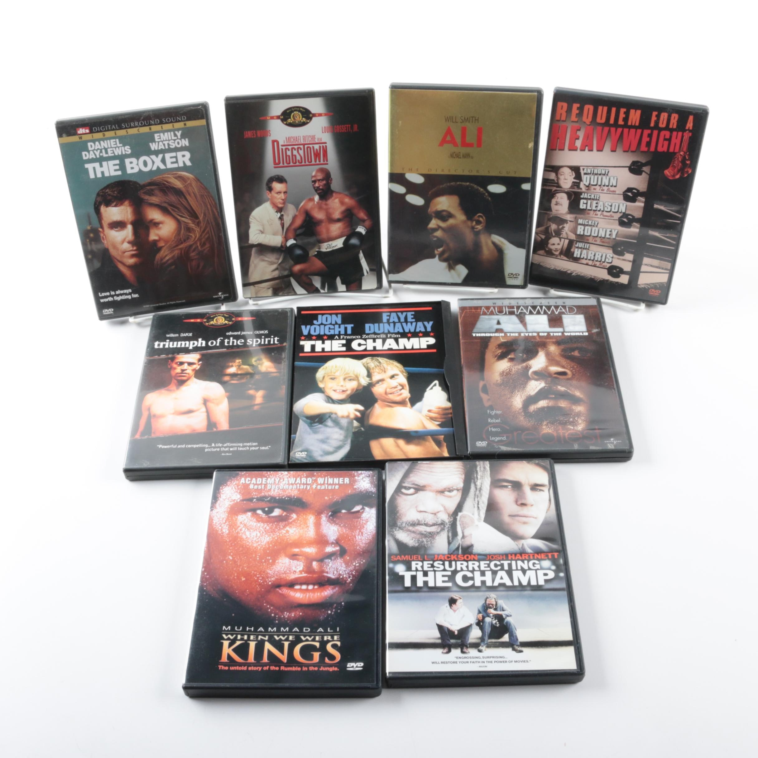 Collection of Nine Boxing Themed DVDs