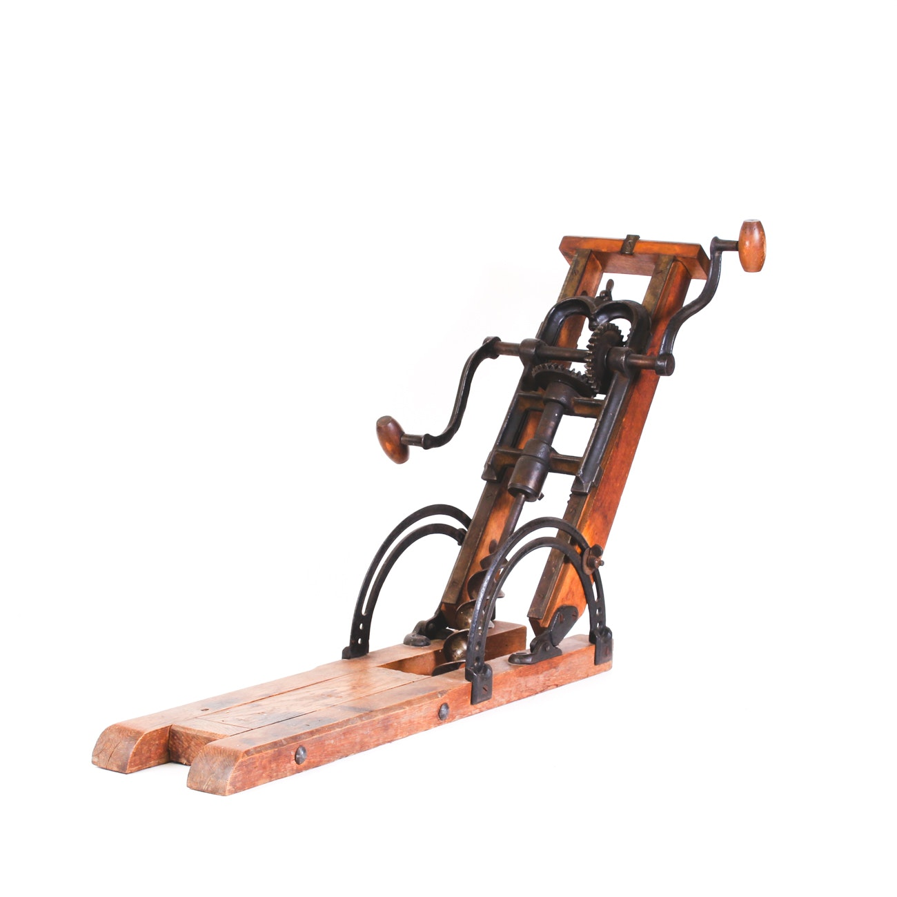Antique Hand-Crank Barn Beam Auger