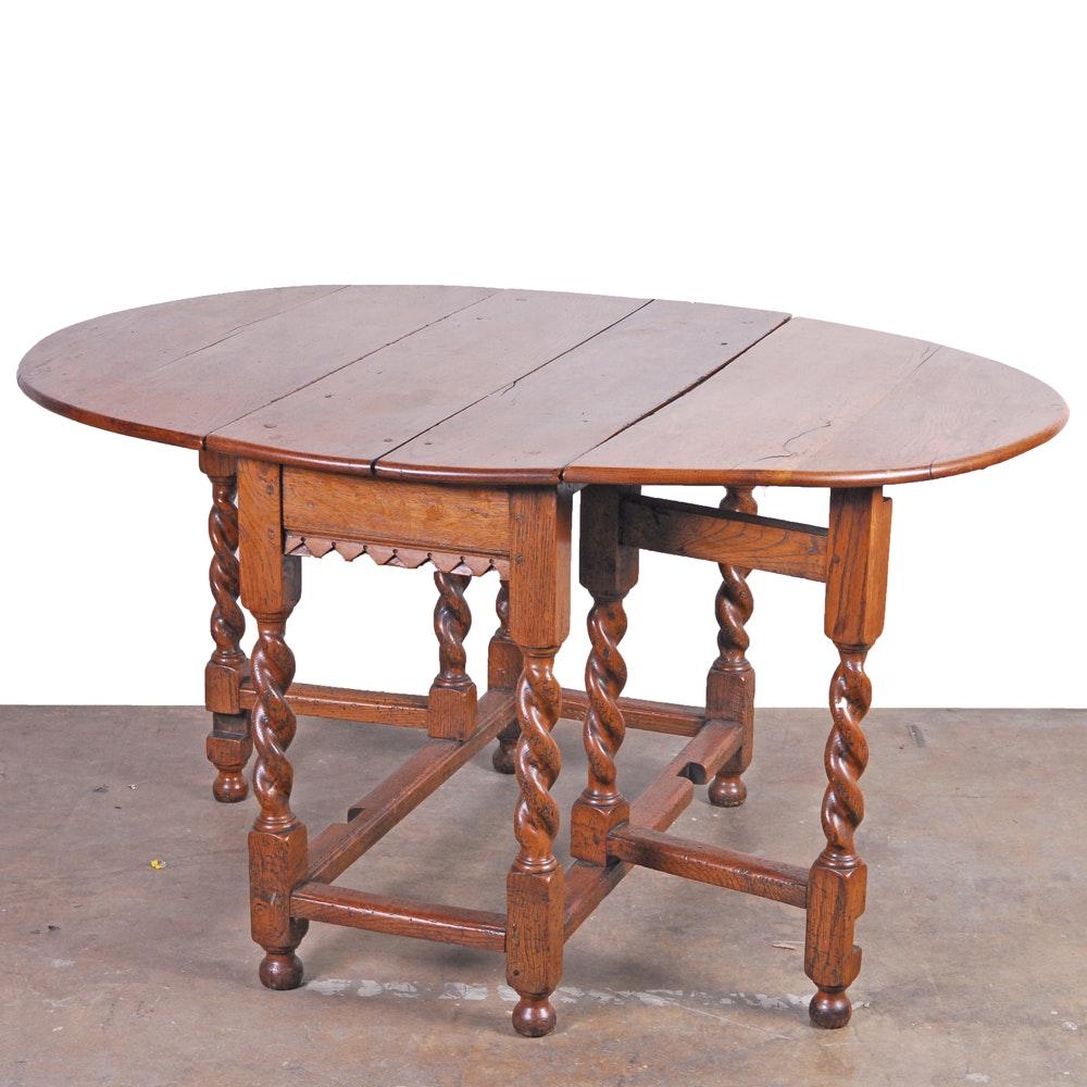 Antique English Oak Gateleg Table ...
